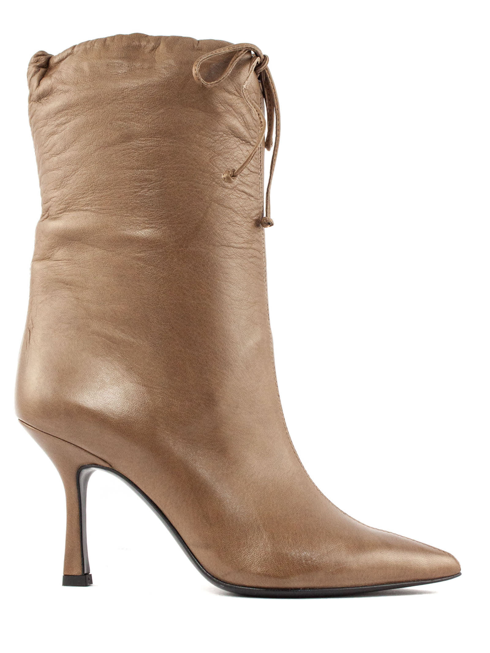 Michelle Ankle Boot In Brown Leather