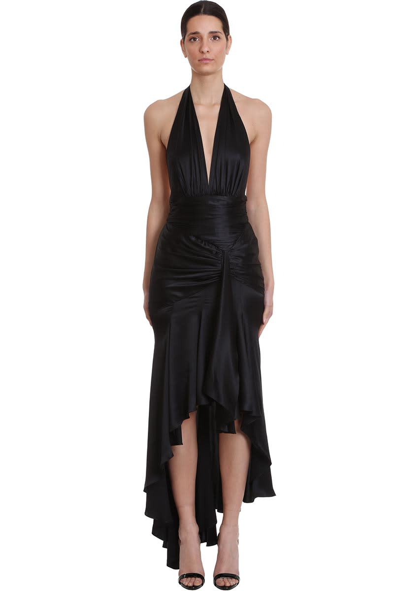 Buy Alexandre Vauthier Dress In Black Silk online, shop Alexandre Vauthier with free shipping