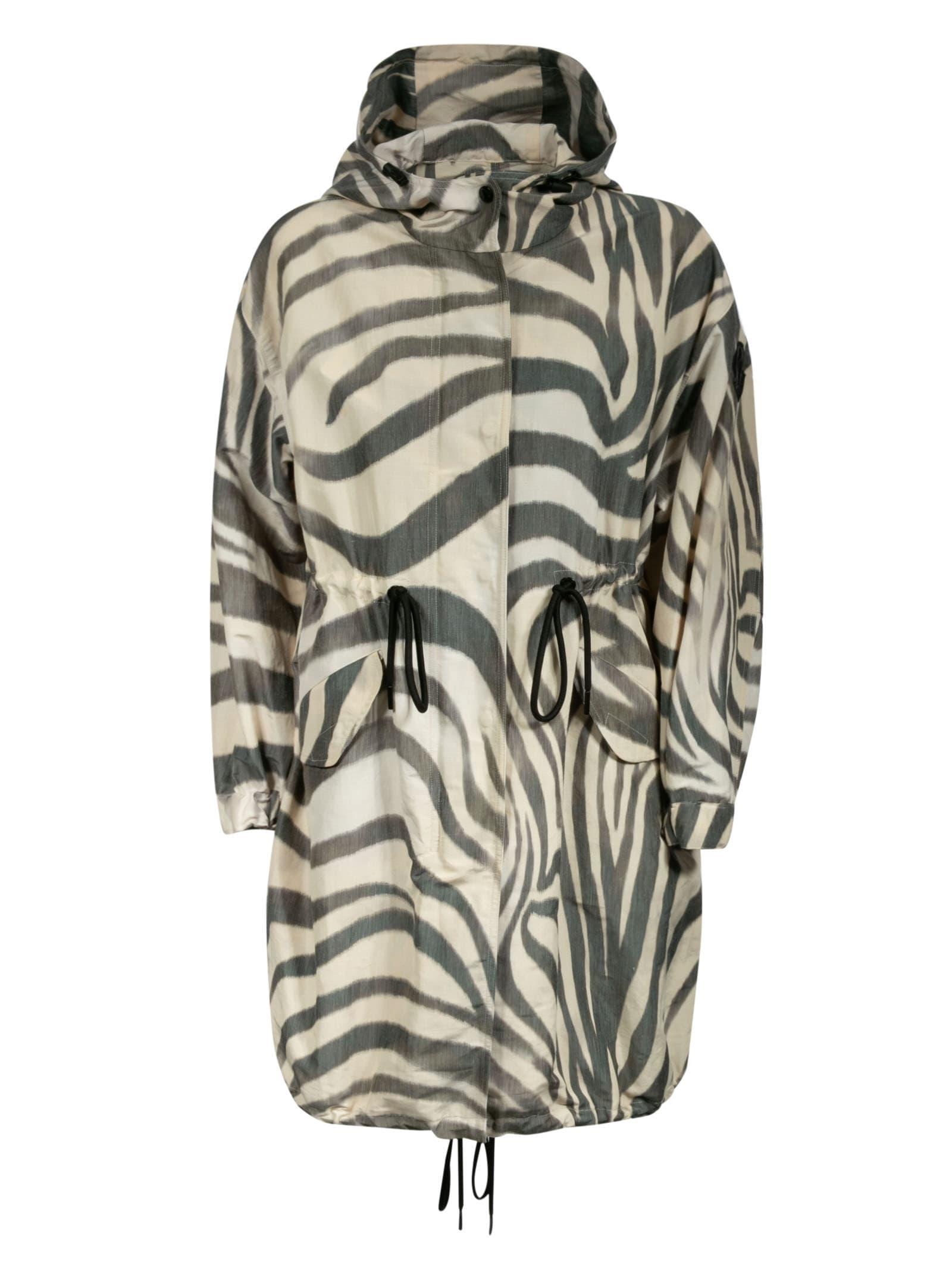 Moncler Archid Zebra Print Jacket