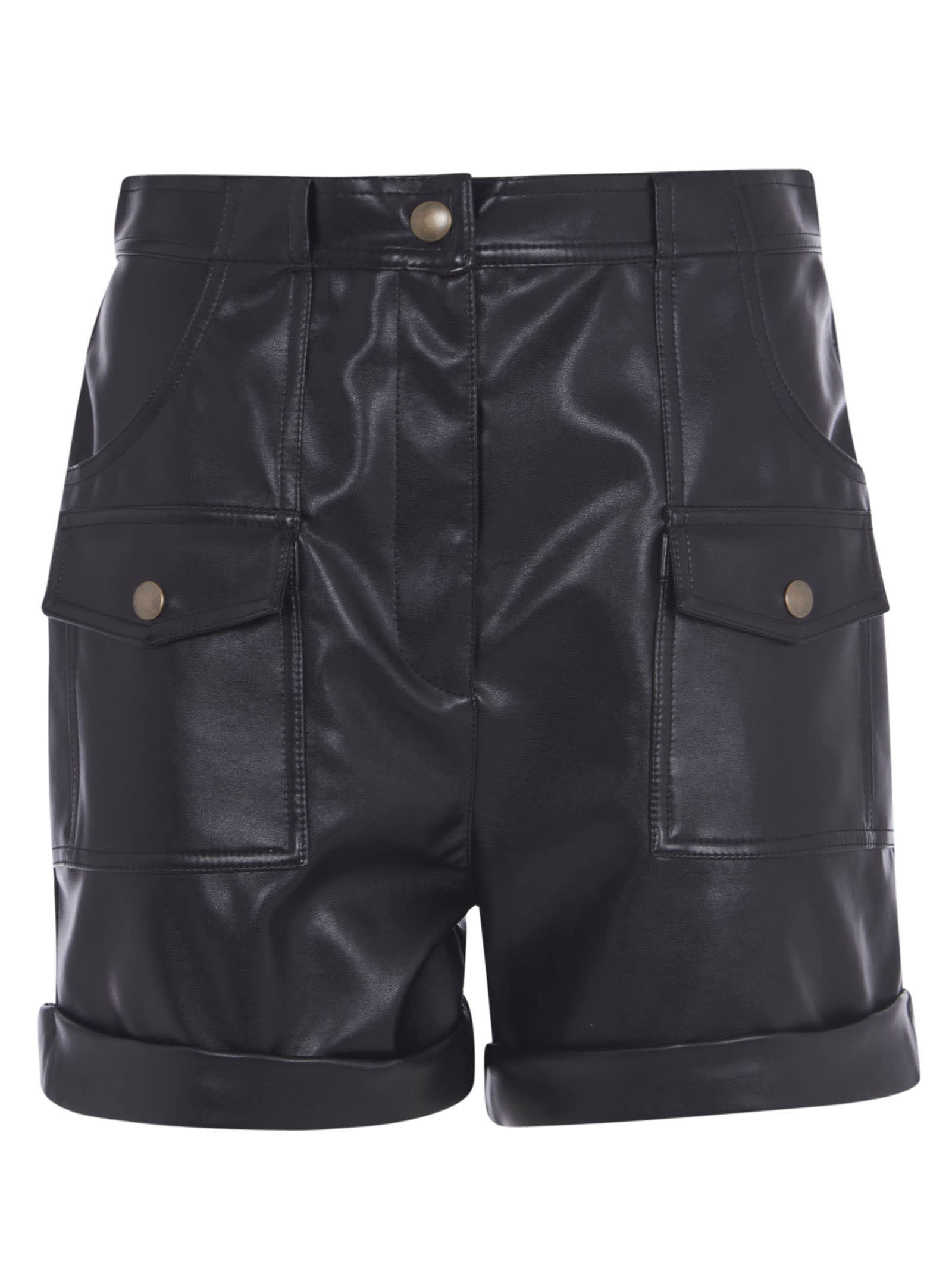 Philosophy Di Lorenzo Serafini FRONT BUTTONED POCKET SHORTS