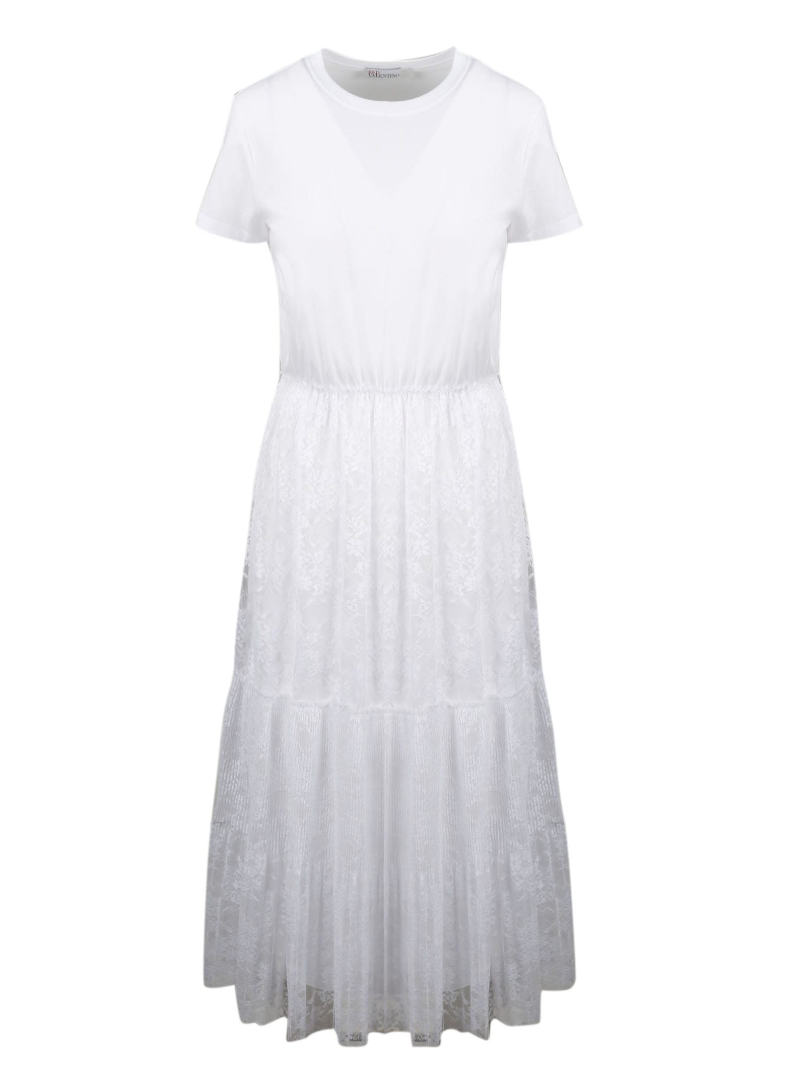 Buy RED Valentino Street Lace Midi Dress online, shop RED Valentino with free shipping