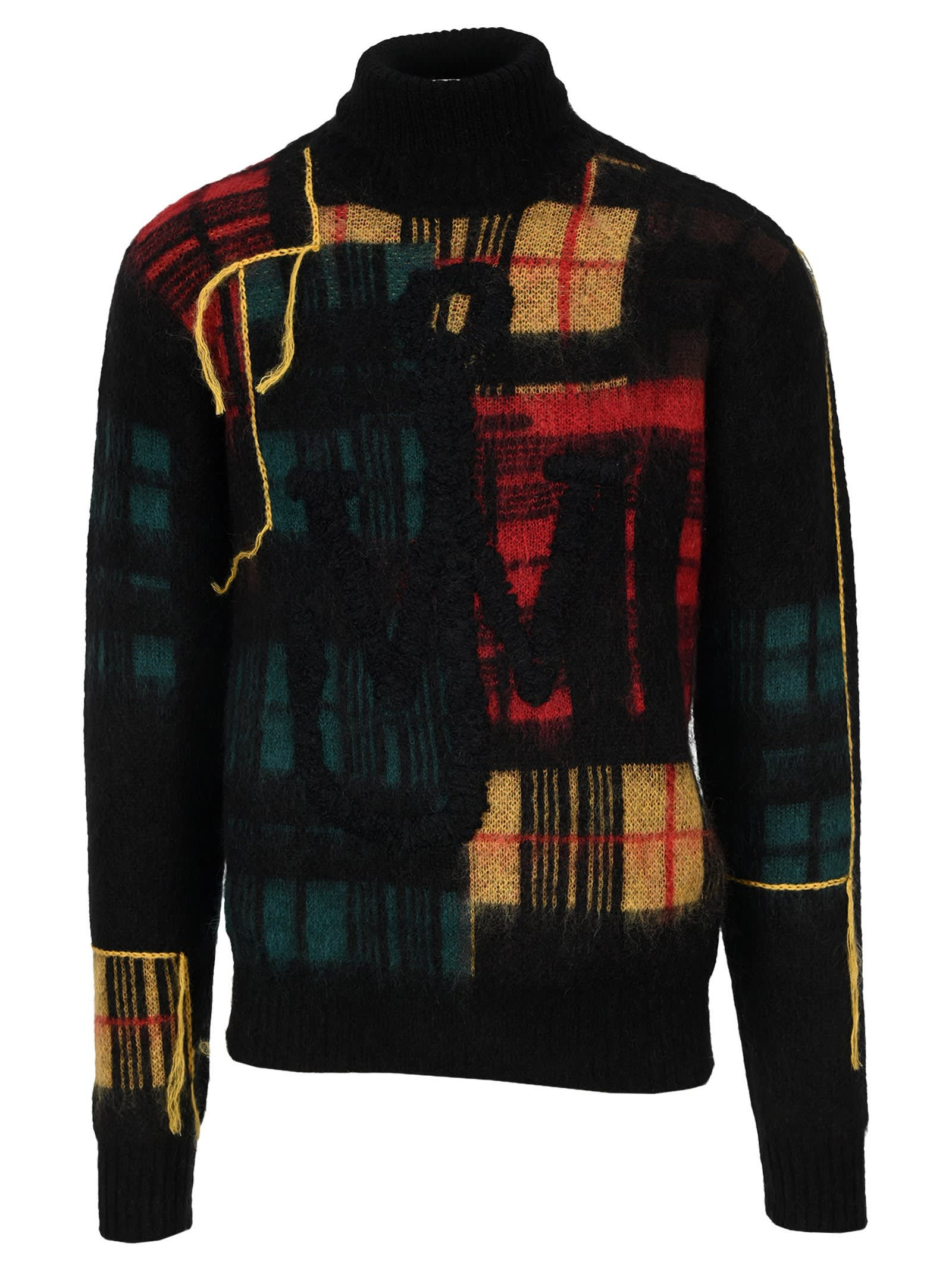 Jw Anderson Jwa Patchwork Turtleneck Jumper