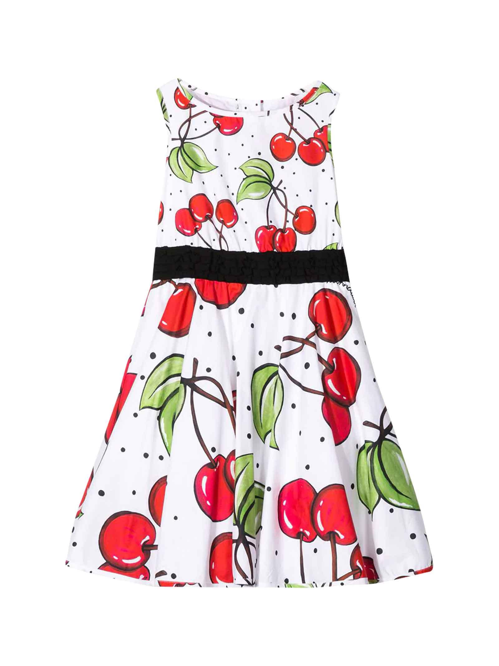 Buy Monnalisa Moncler Kids White Dress online, shop Monnalisa with free shipping
