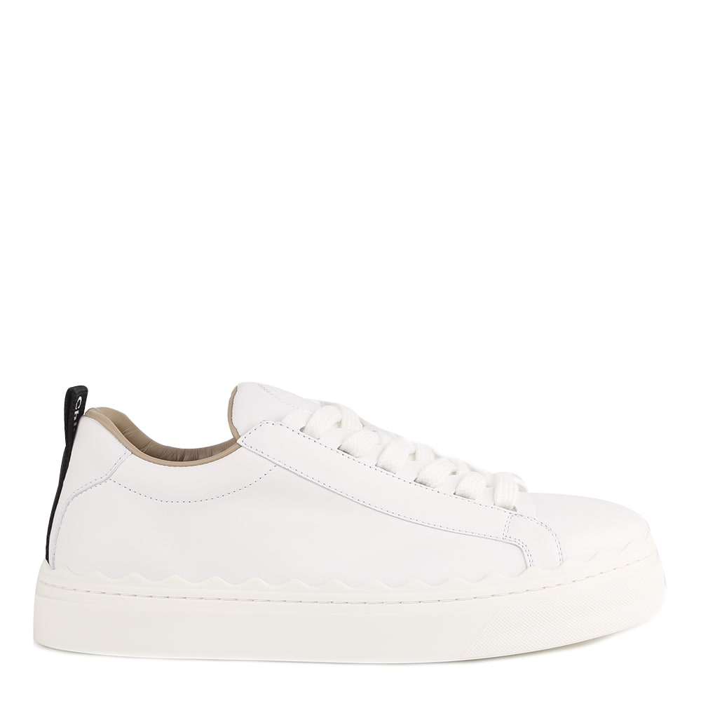 Chloé WHITE LAUREN LEATHER SNEAKER