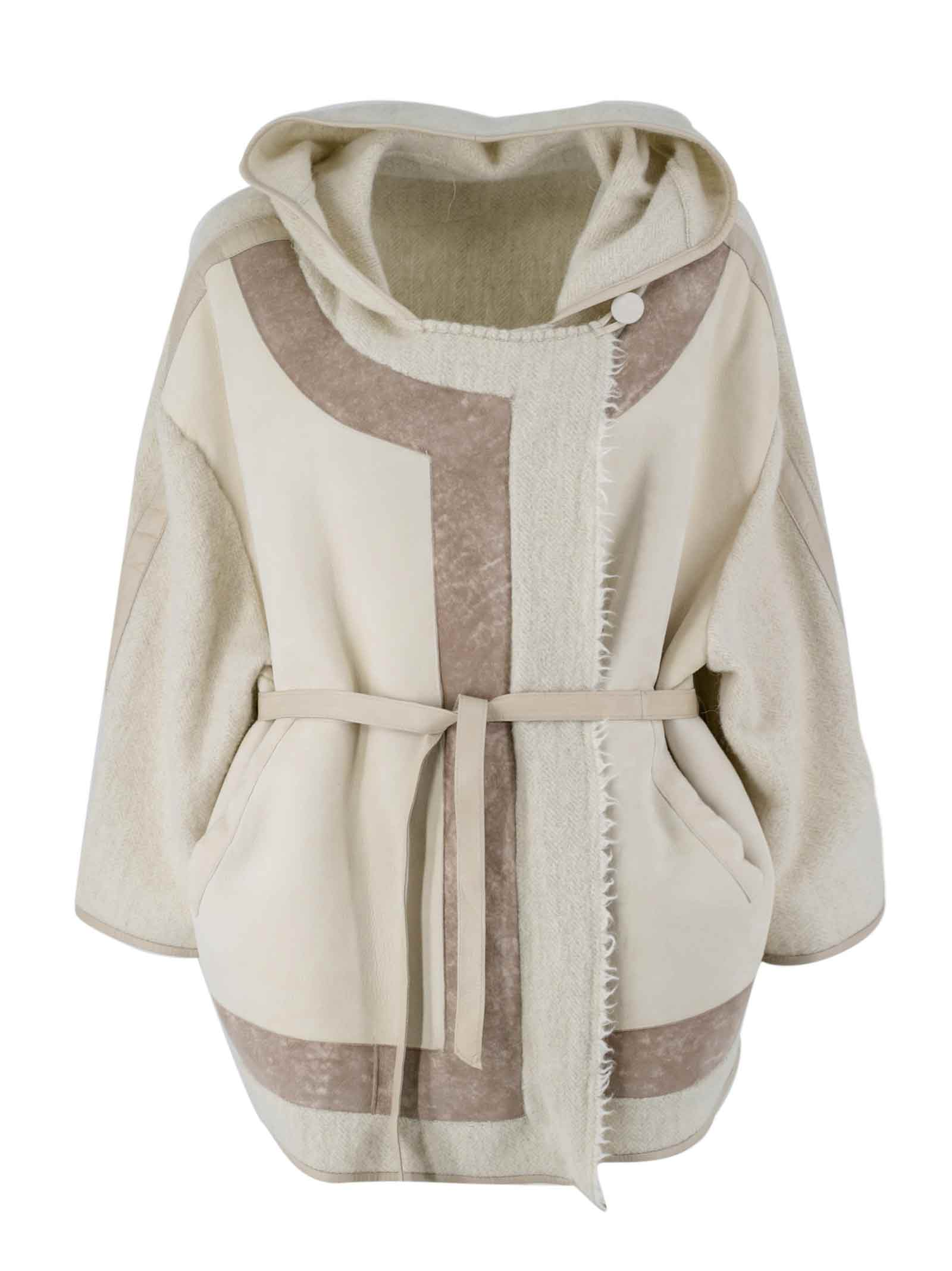 Leather Hoodie Coat