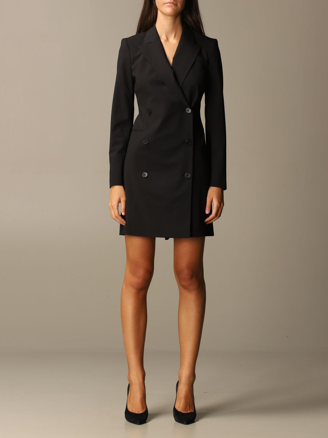 Theory Dress Theory Double-breasted Dress In Wool