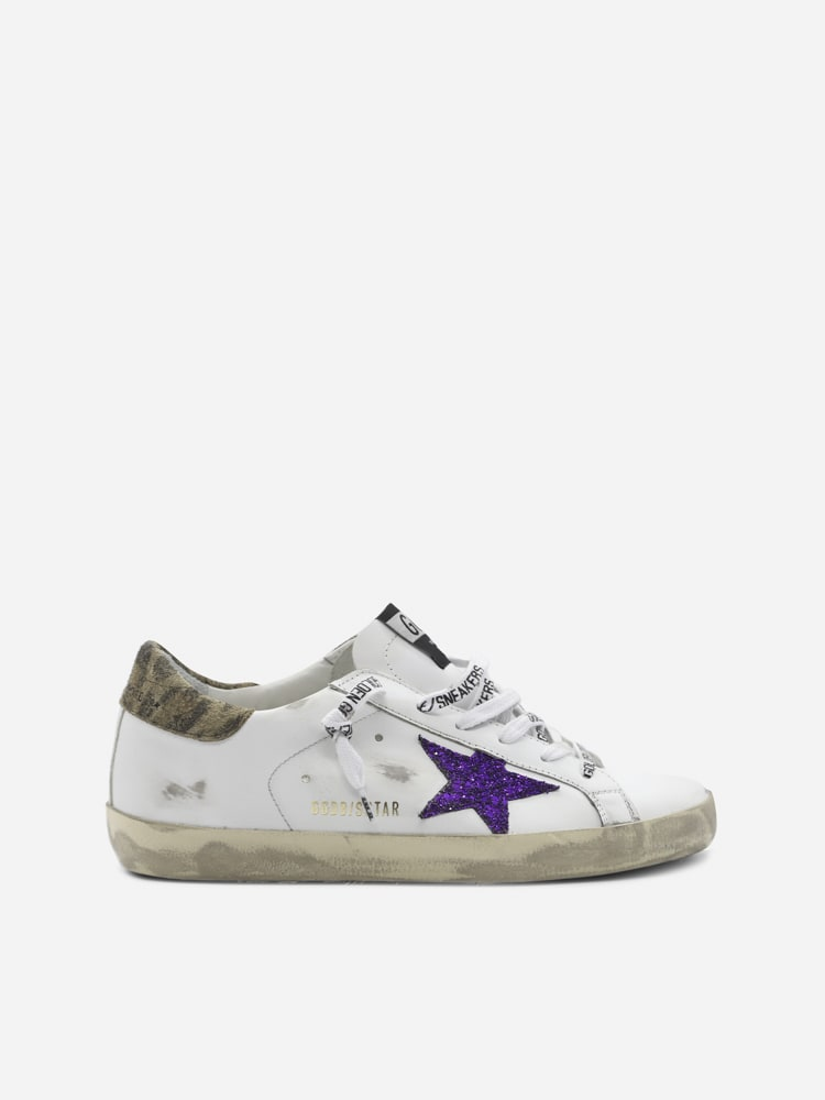 Golden Goose Superstar Sneakers In Leather With Animal Print Inserts