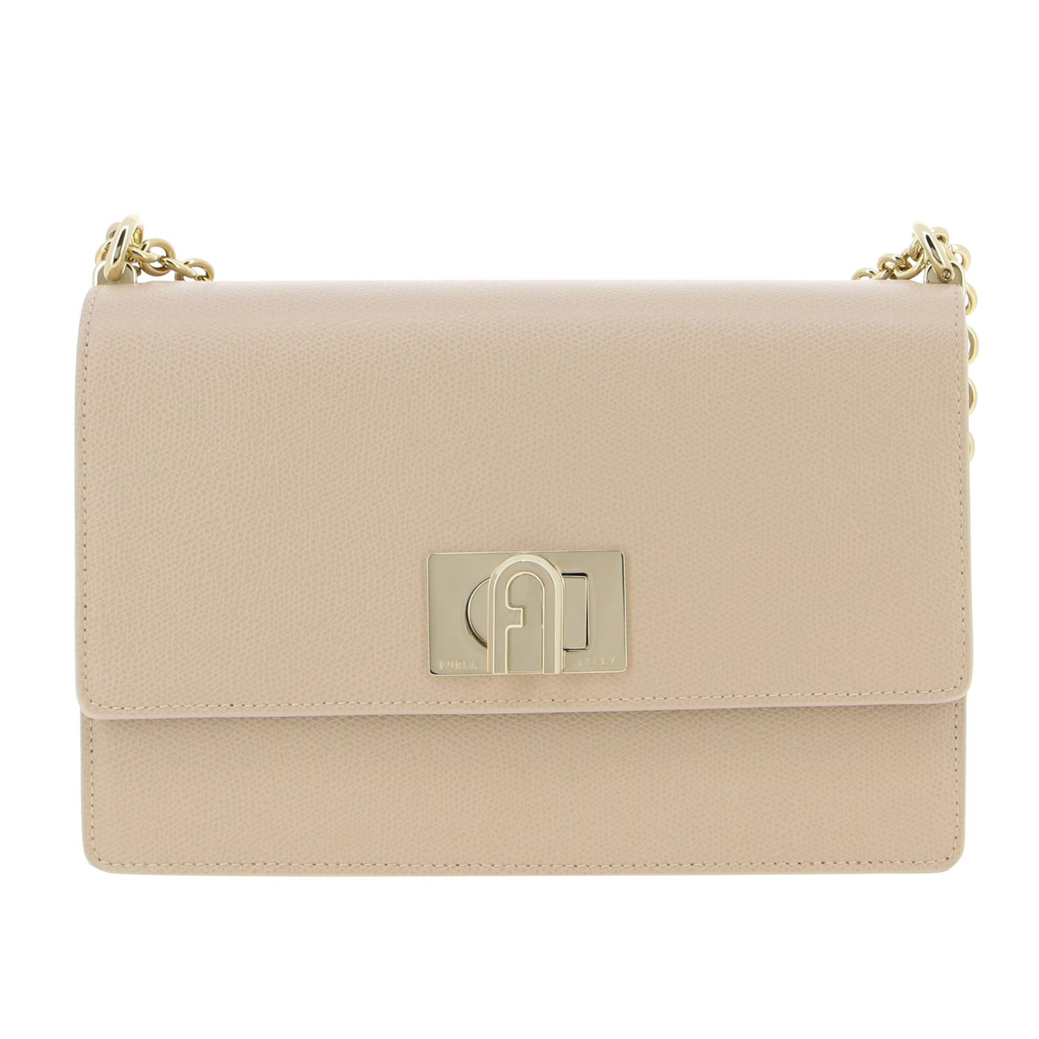 Furla Leather Bag In Pink
