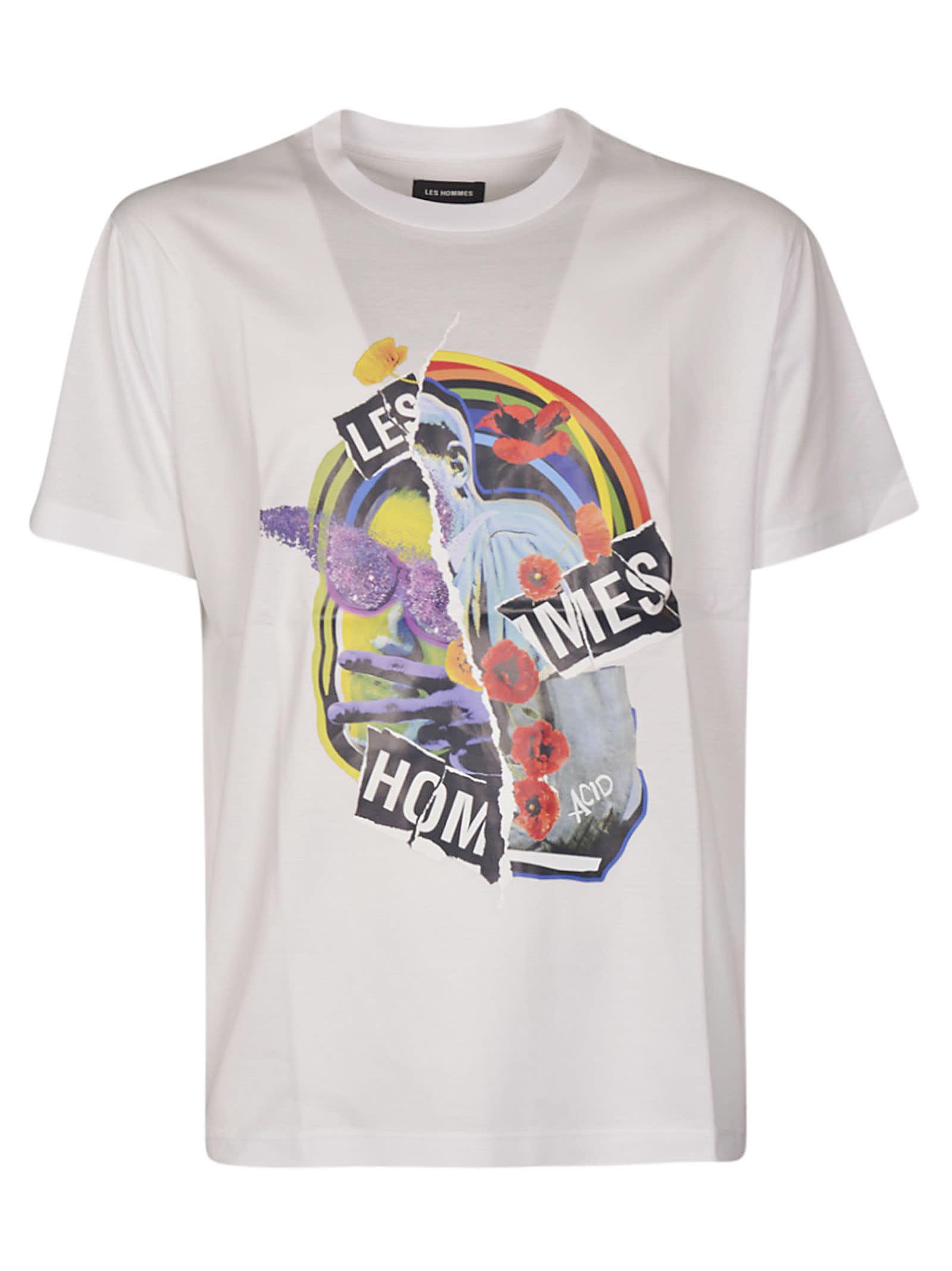 Les Hommes Les Hommes Collage Print T-shirt