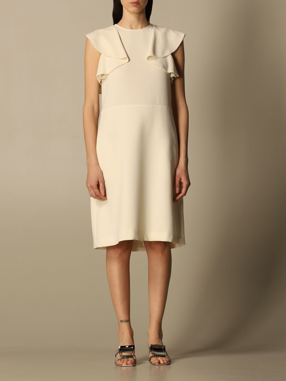 Buy N? 21 Dress N ° 21 Dress In Crêpe With Flounces online, shop N.21 with free shipping