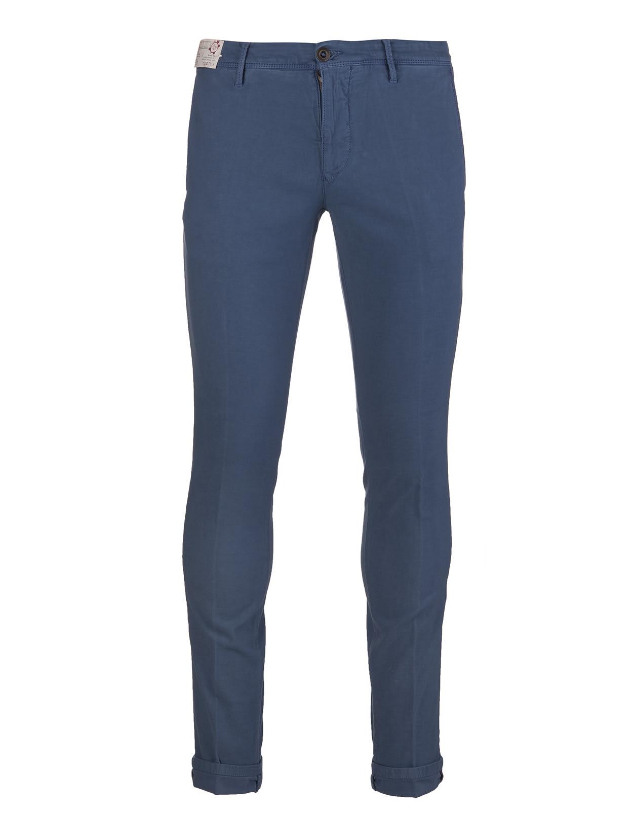 Blue Slacks Man Pants