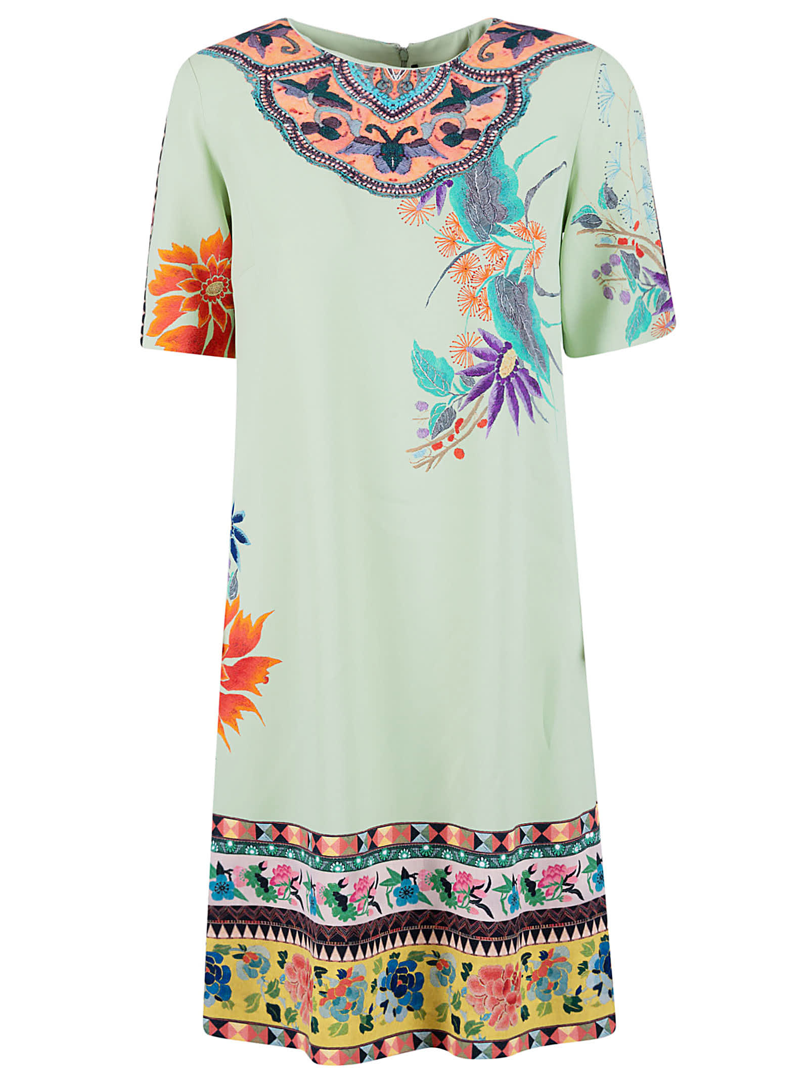 Buy Etro Floral Detail Dress online, shop Etro with free shipping