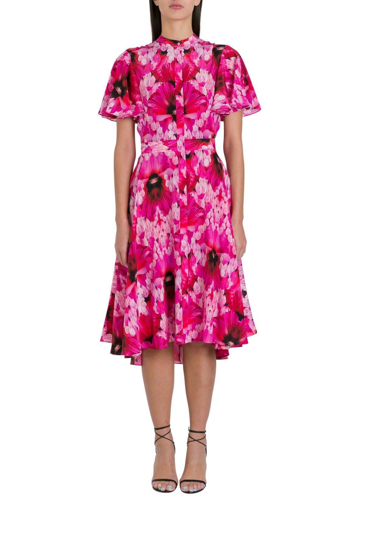 Alexander McQueen Floral Cocktail Dress