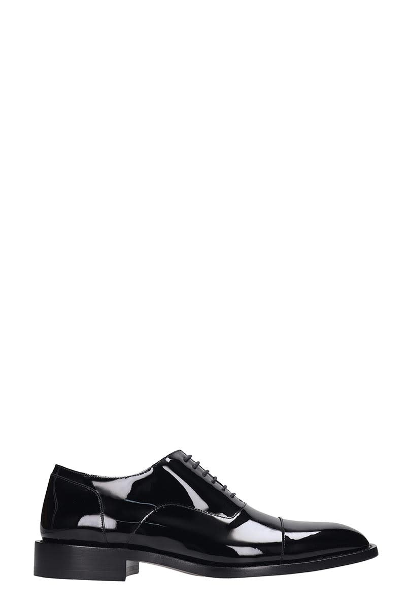 Balenciaga Lace Up Shoes In Black Leather