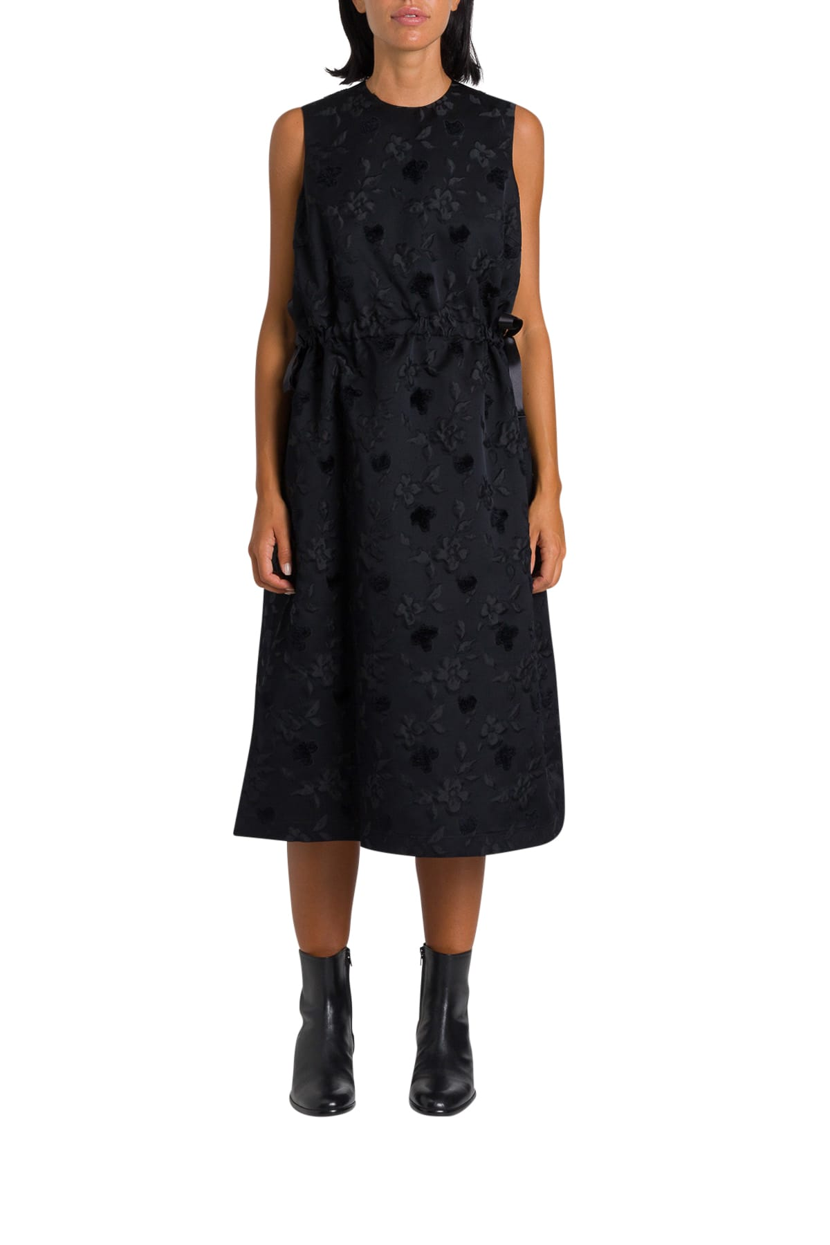 Noir Kei Ninomiya Jacquard Dress With Tulle Underskirt