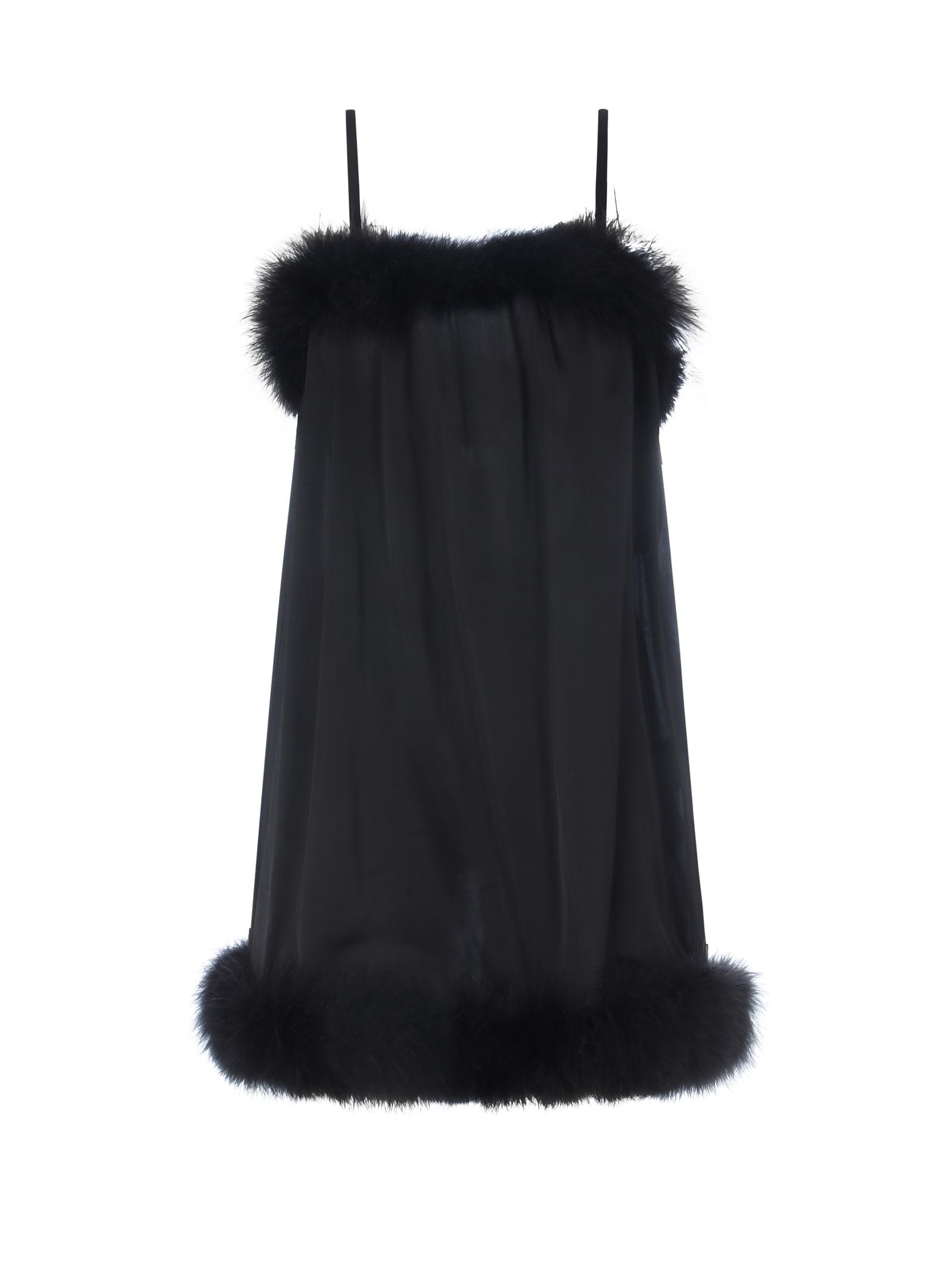Buy Mini Satin Dress online, shop Saint Laurent with free shipping
