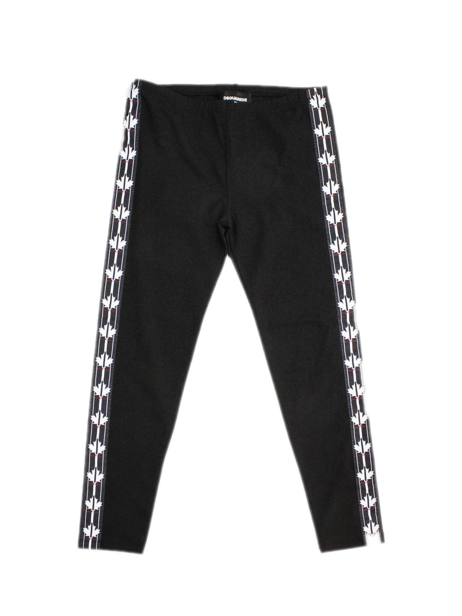 Black Cotton Tracksuit Pant