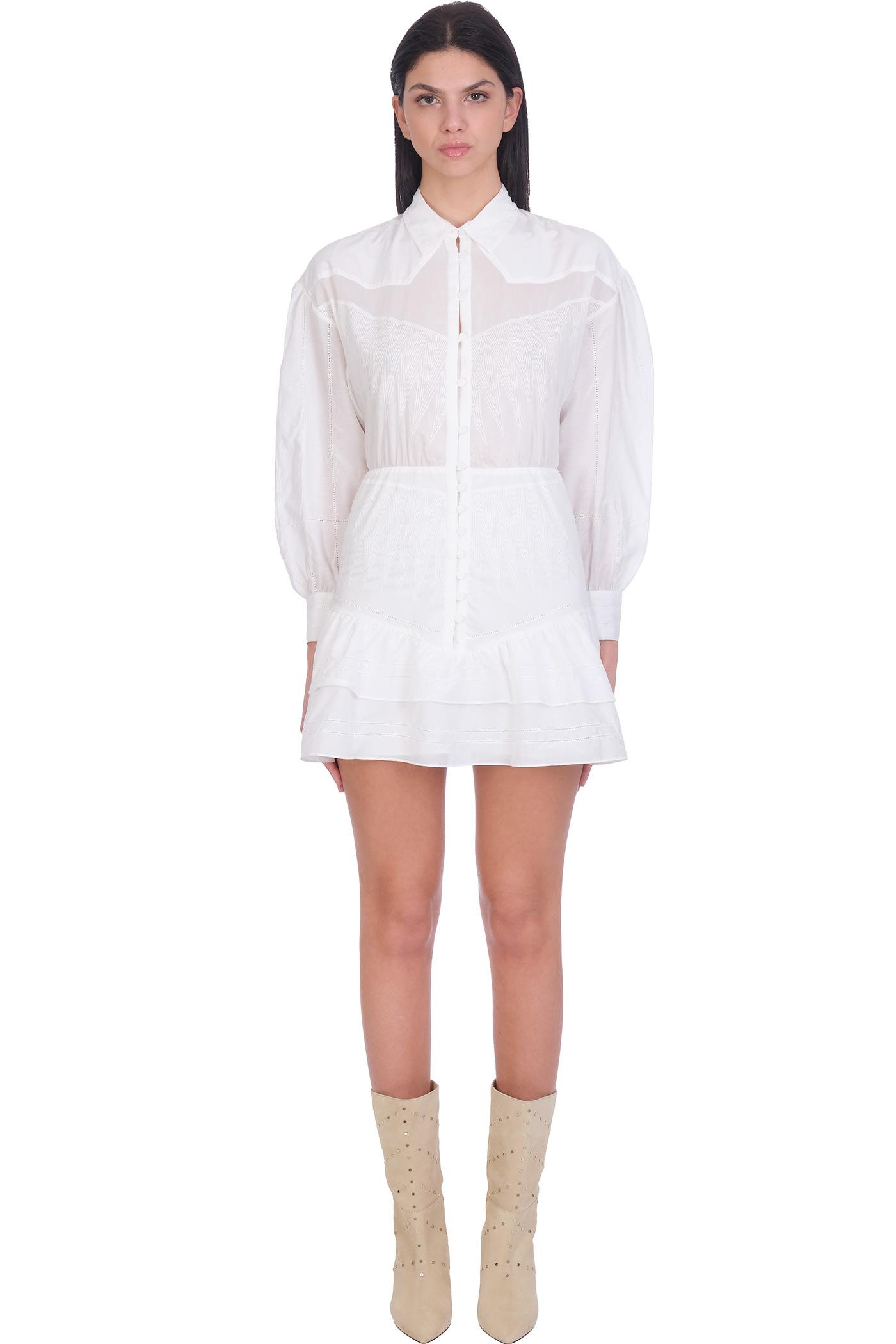 Buy IRO Josey Dress In White Cotton online, shop IRO with free shipping