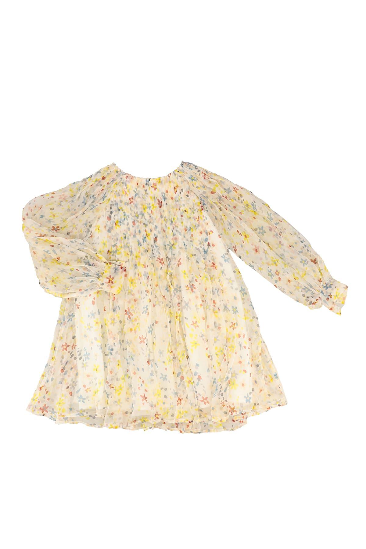 Buy Stella McCartney Kids Floral Silk Dress online, shop Stella McCartney Kids with free shipping