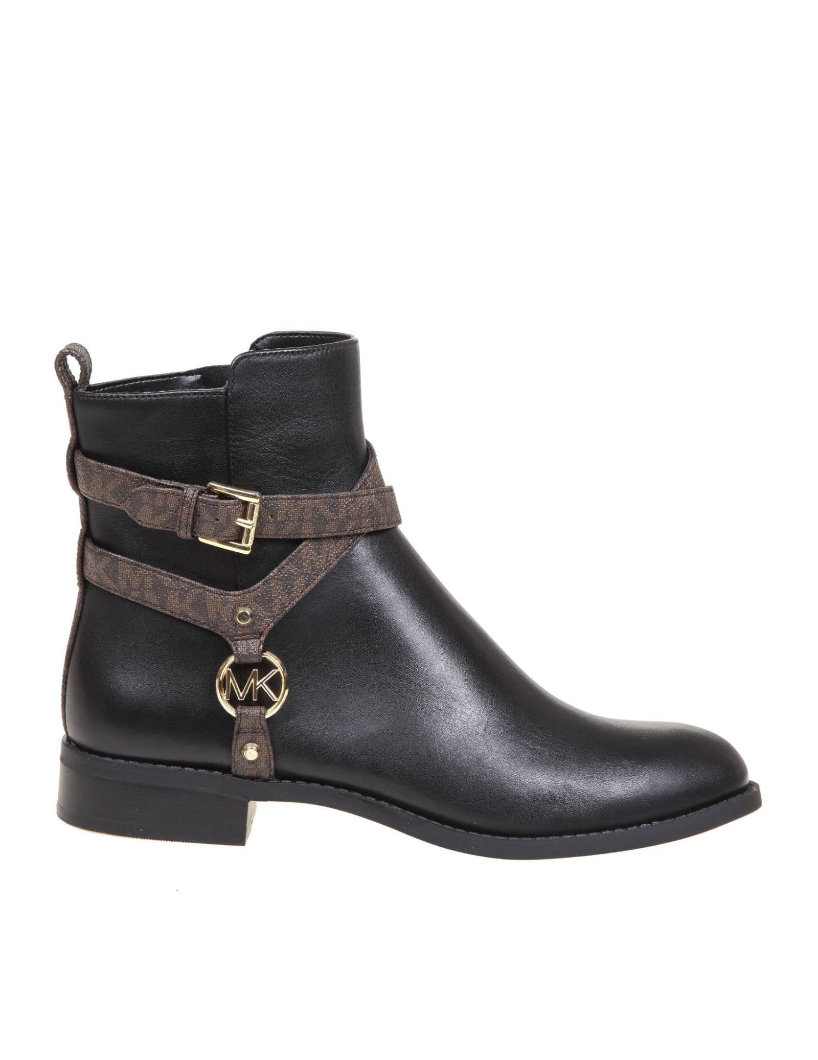 Michael Kors PRESTON BOOTS IN BLACK LEATHER