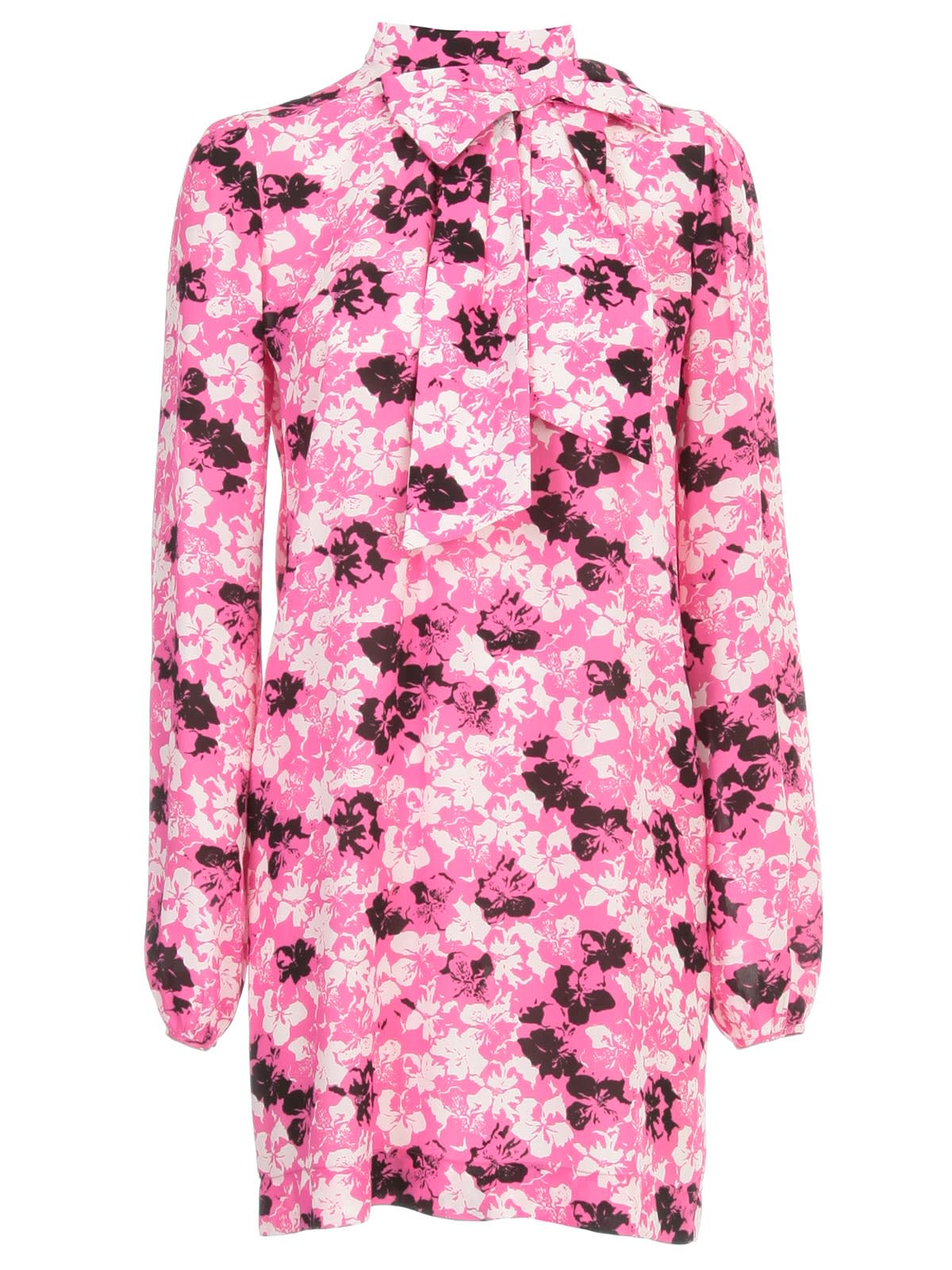 Buy N.21 Printed Short Dress L/s W/scarf And Knot online, shop N.21 with free shipping
