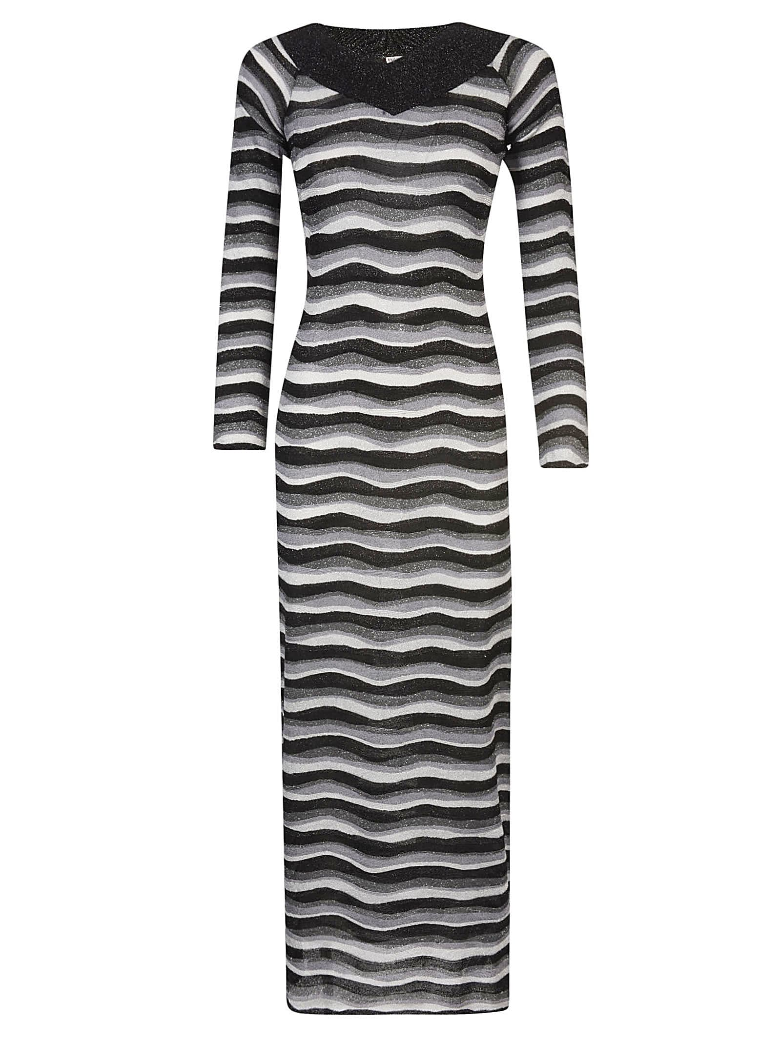 Buy Emilio Pucci Wave Striped Dress online, shop Emilio Pucci with free shipping