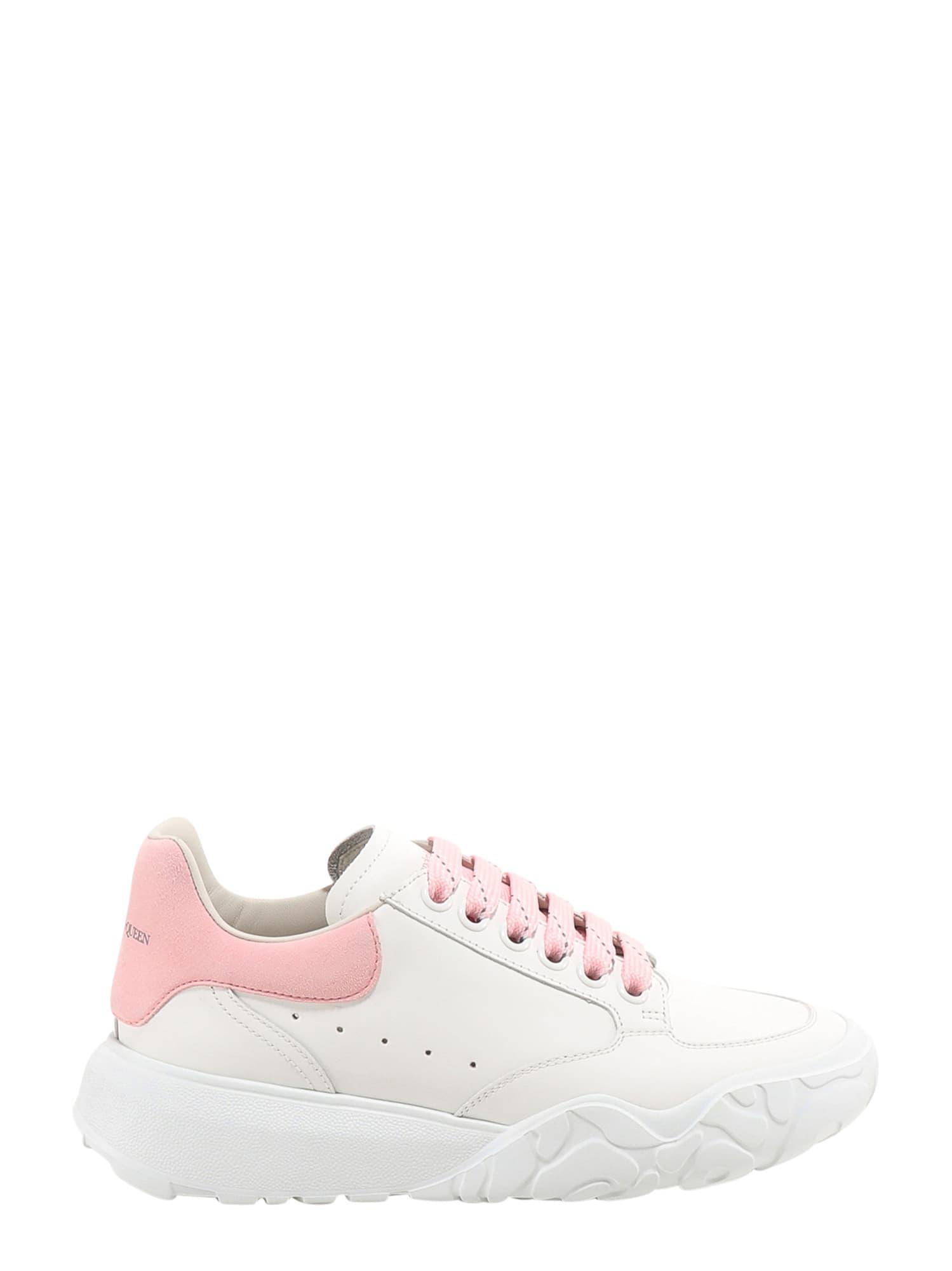 Buy Alexander McQueen Court Sneakers online, shop Alexander McQueen shoes with free shipping