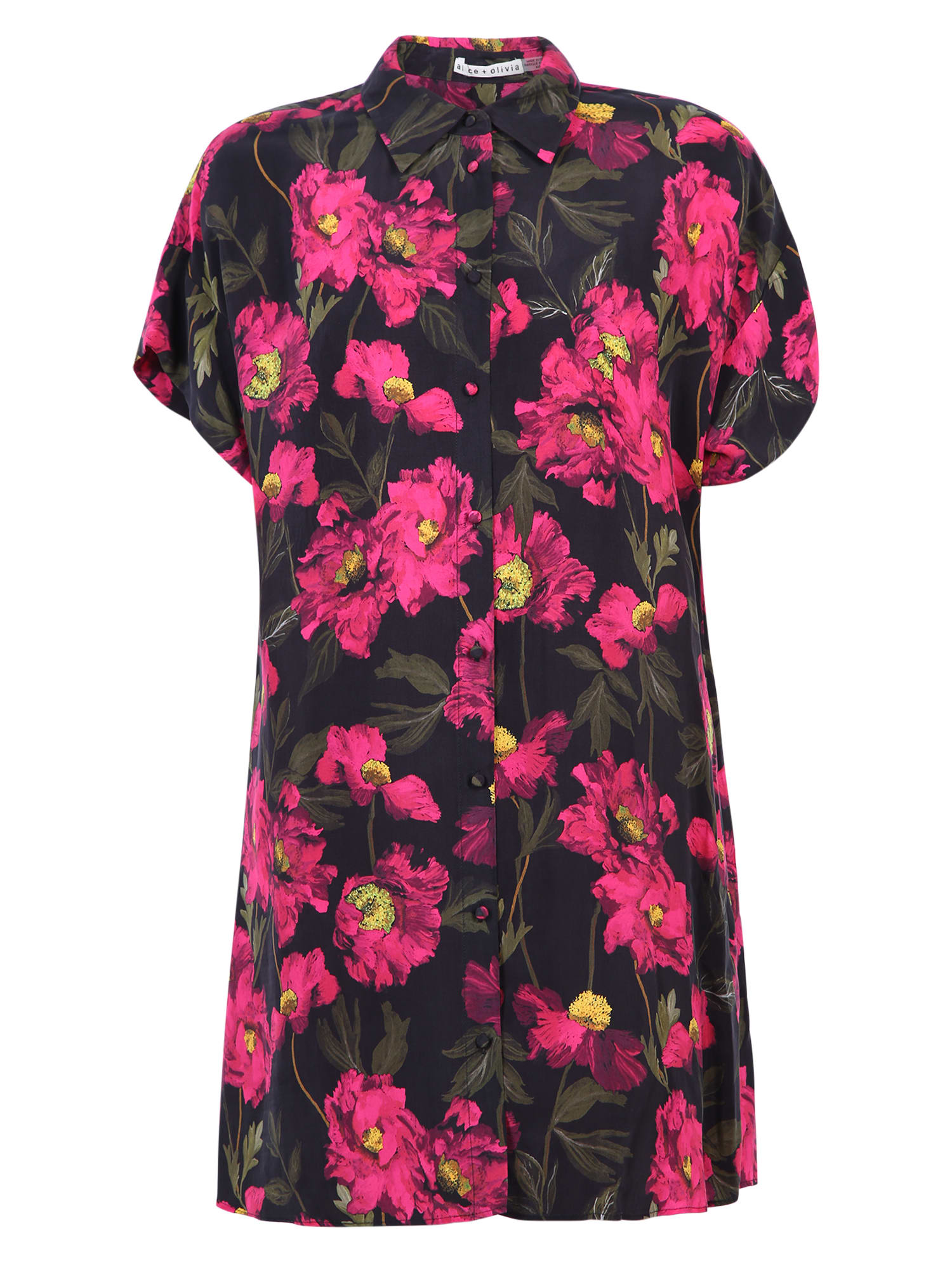 Alice + Olivia Printed Shirt Dress