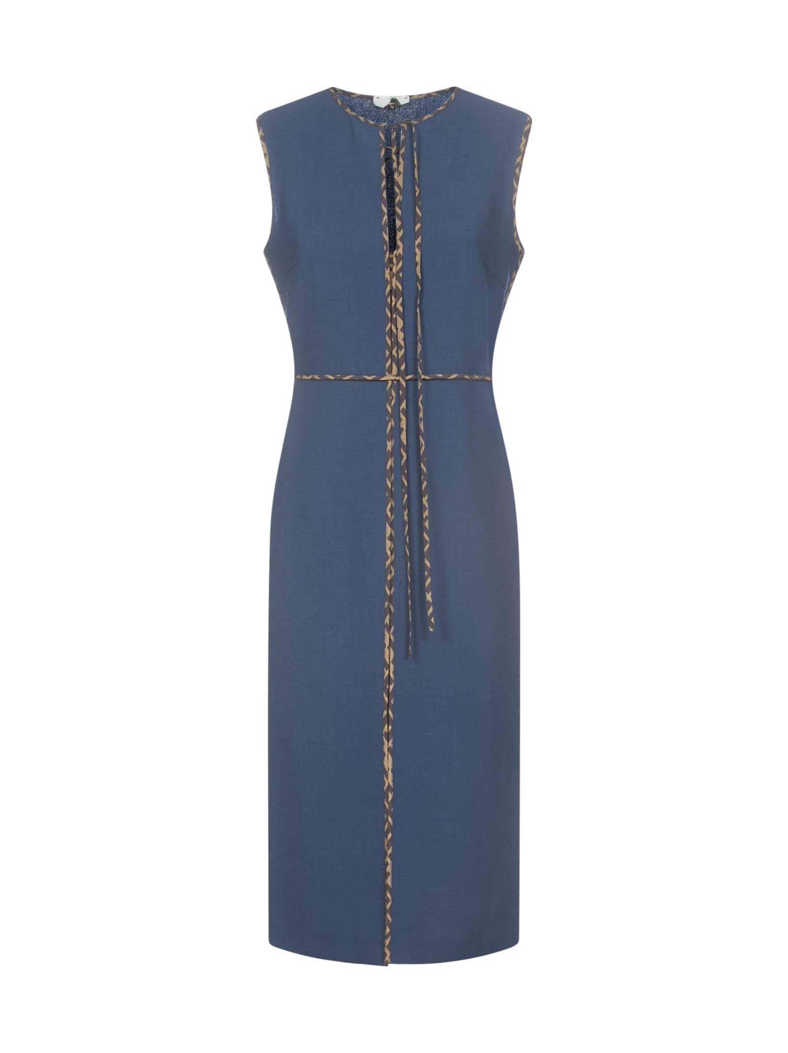 Buy Fendi Sleeveless Ff Split Dress online, shop Fendi with free shipping