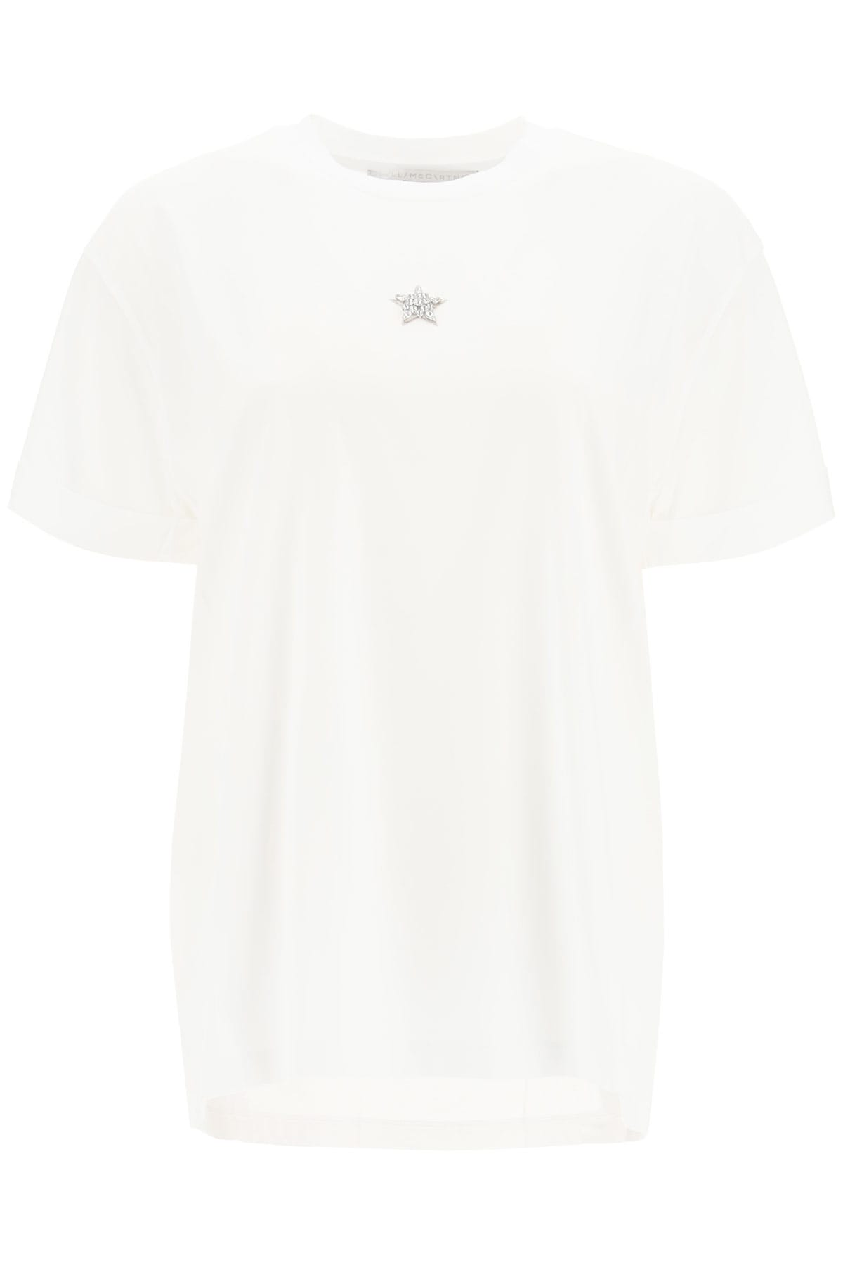 Stella McCartney T-shirt Ministar Embroidery With Crystals