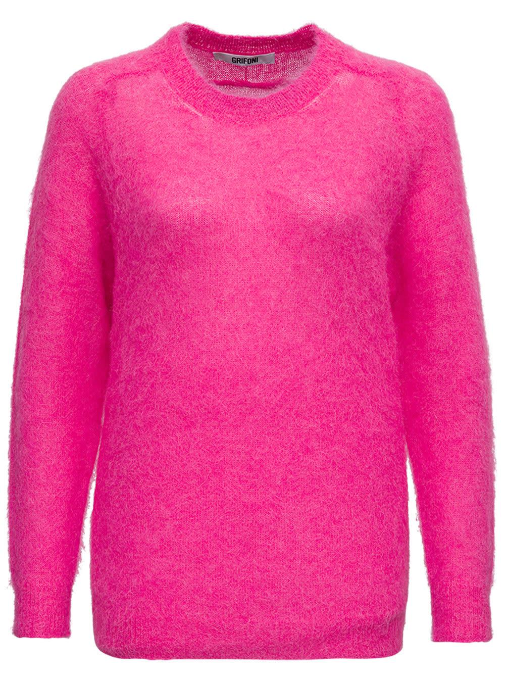 Fuchsia Mohair Sweater