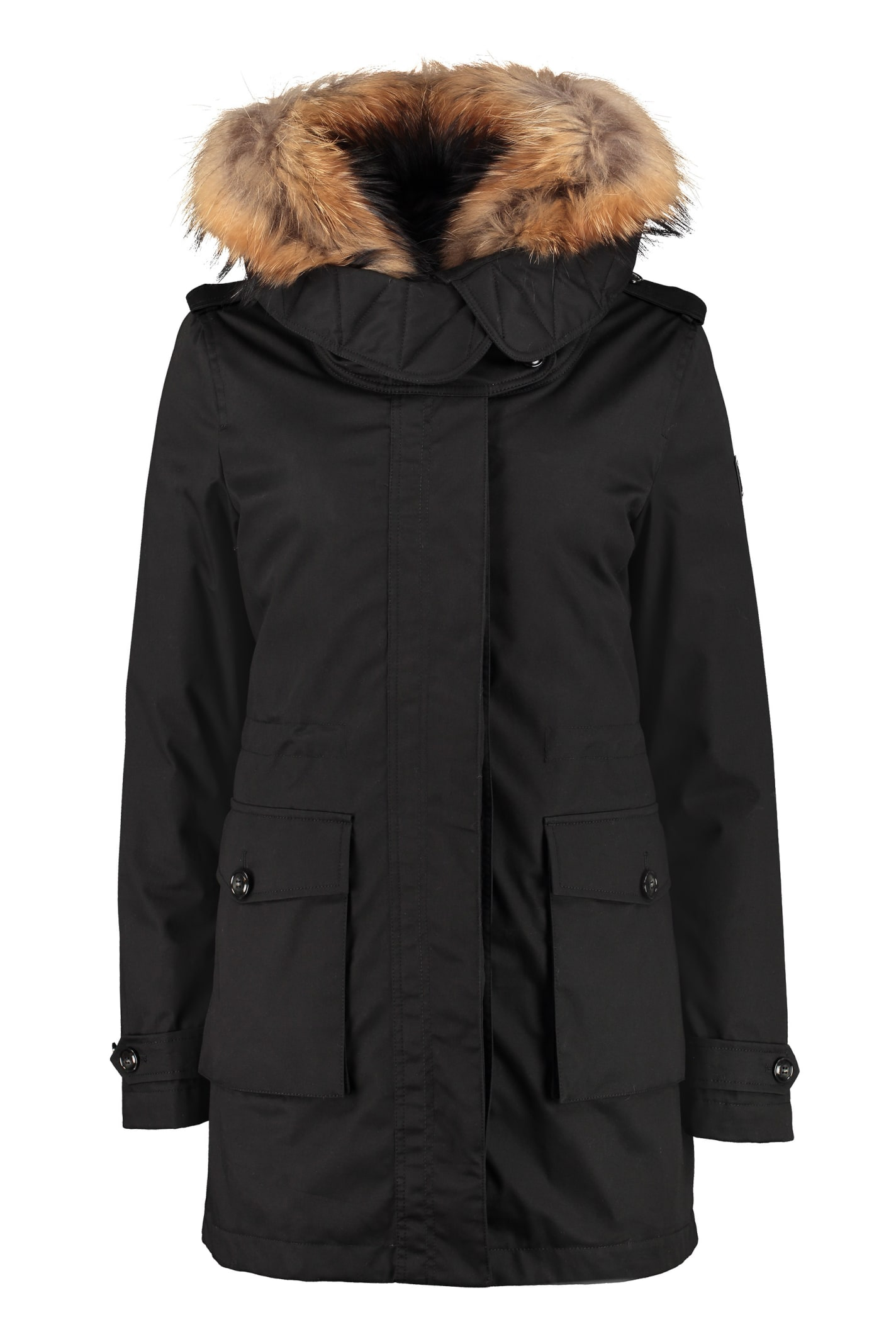 Woolrich Scarlett Padded Parka With Fur Hood