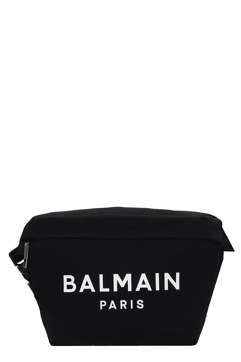 Balmain B-bumbag Waist Bag In Black Viscose