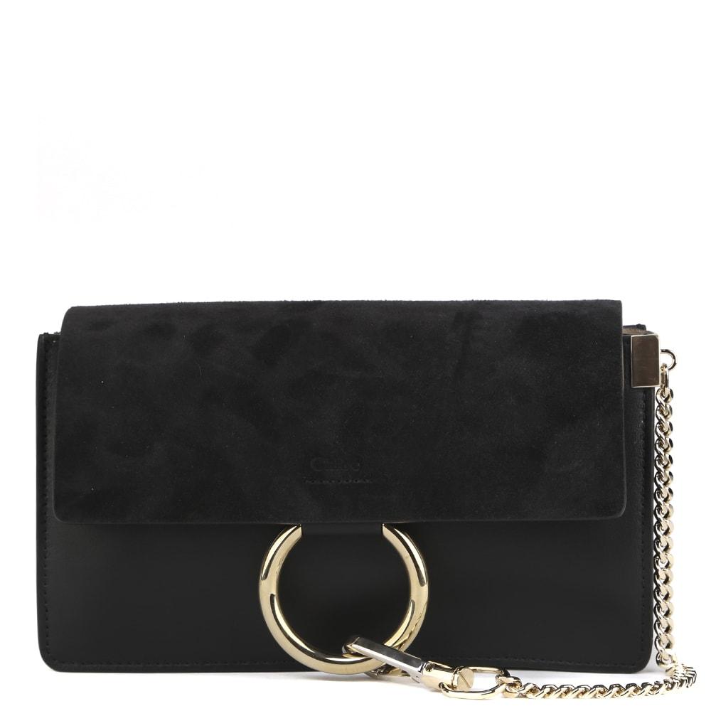Chloé Faye Small Shoulder Bag In Black