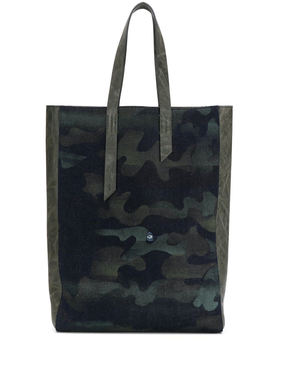 Mr & Mrs Italy DENIM CAMOUFLAGE TOTE BAG