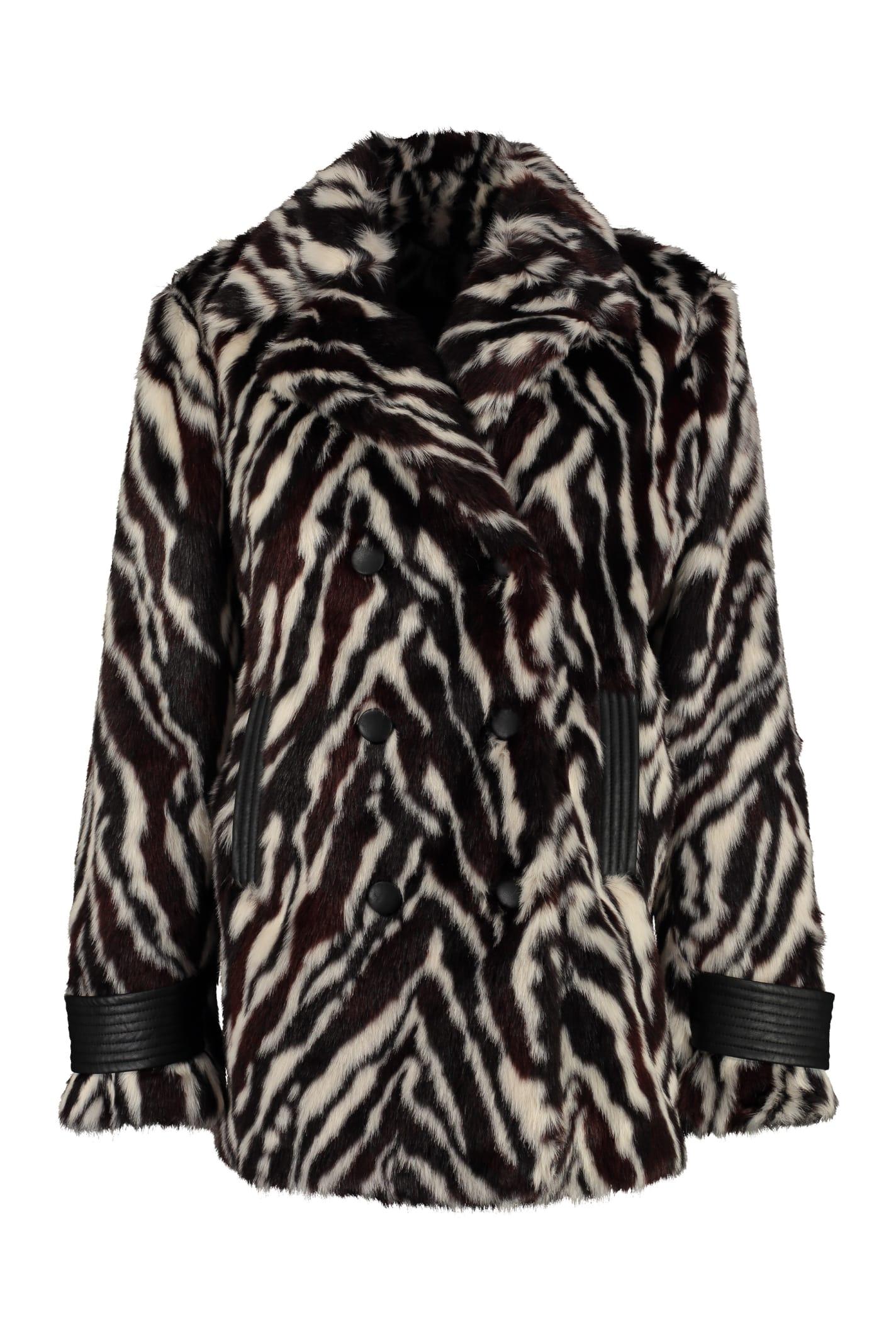 Pinko Lamentare Faux Fur Coat