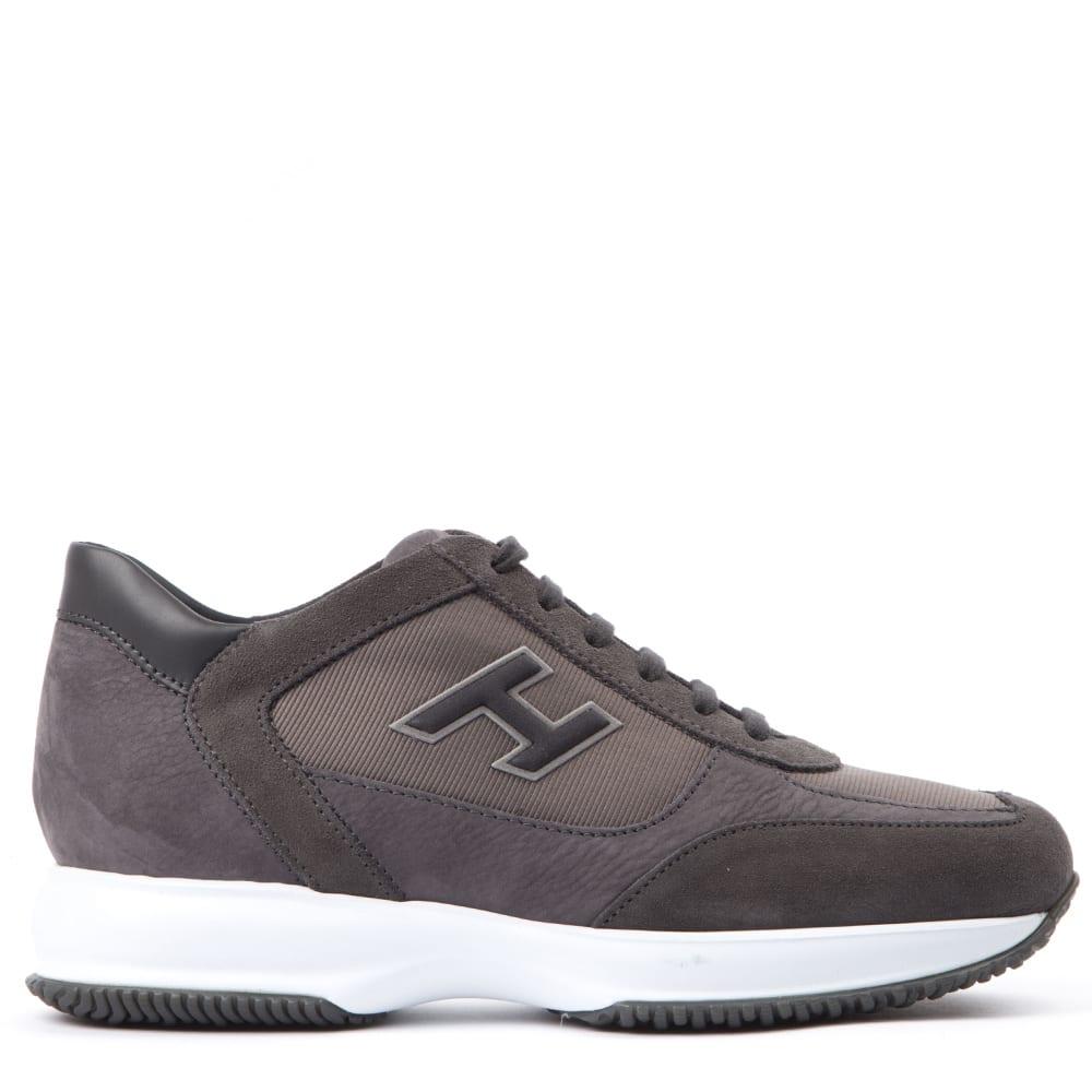 Hogan Sneakers BROWN INTERACTIVE SNEAKER IN SUEDE & NYLON