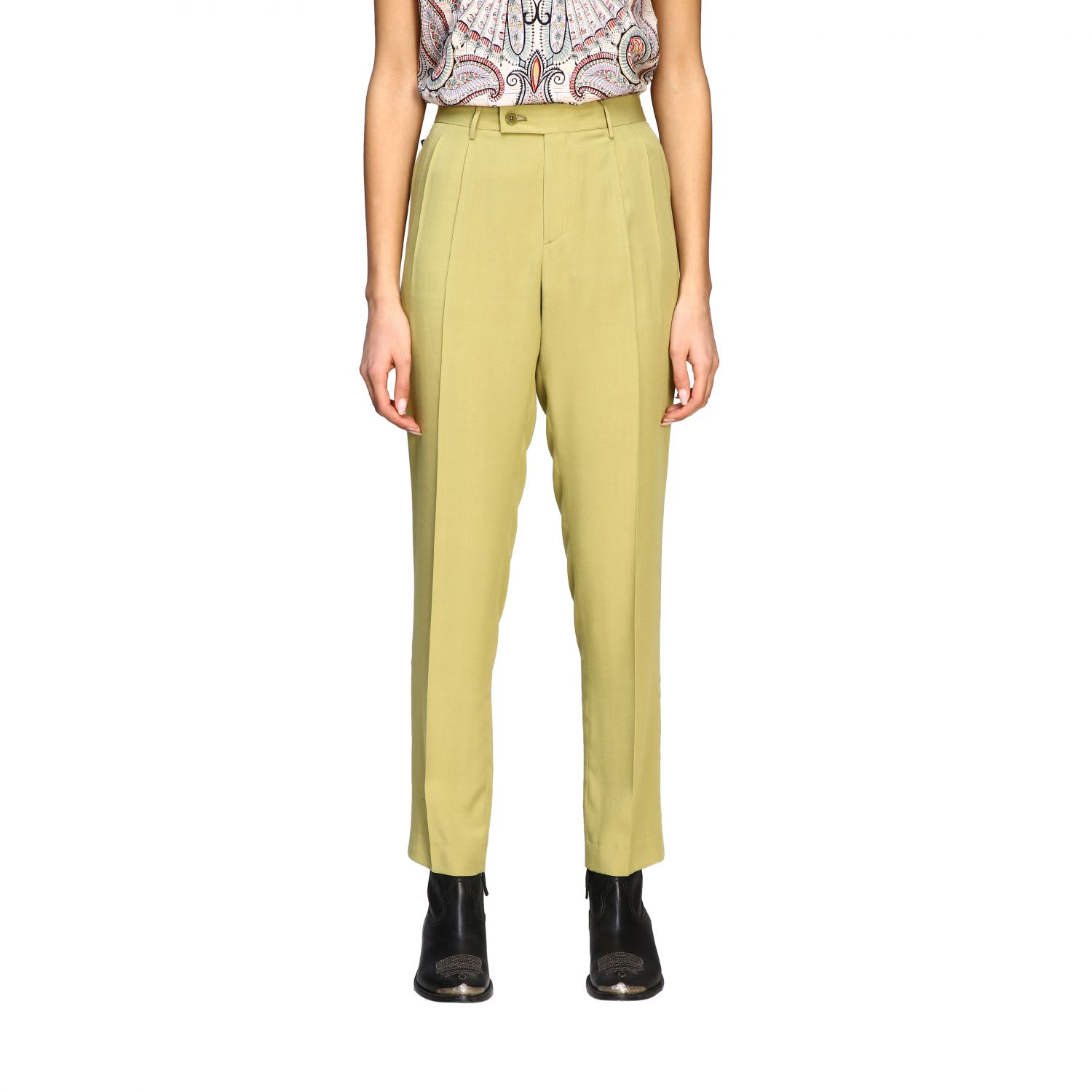 Etro Pants Classic Etro Trousers With America Pockets