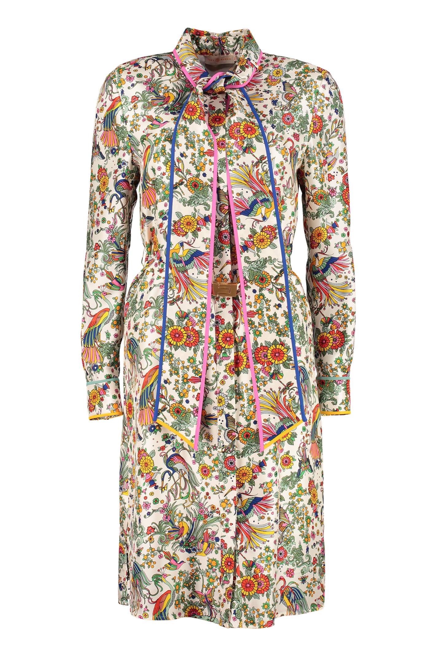Buy Tory Burch Printed Shirtdress online, shop Tory Burch with free shipping