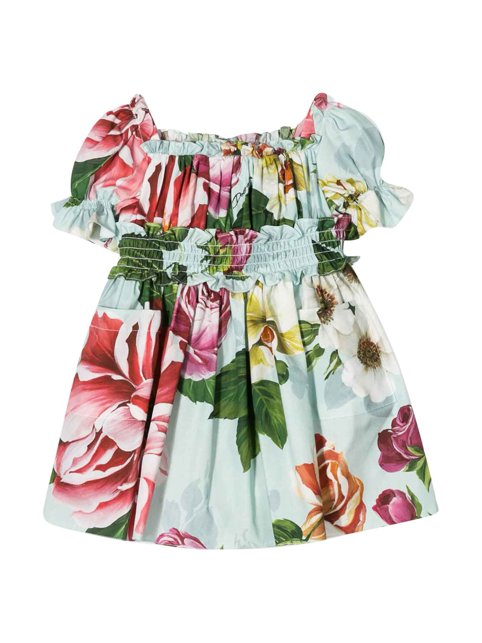 Buy Dolce & Gabbana Multicolor Flowers Dress Dolce & gabbana Kids online, shop Dolce & Gabbana with free shipping
