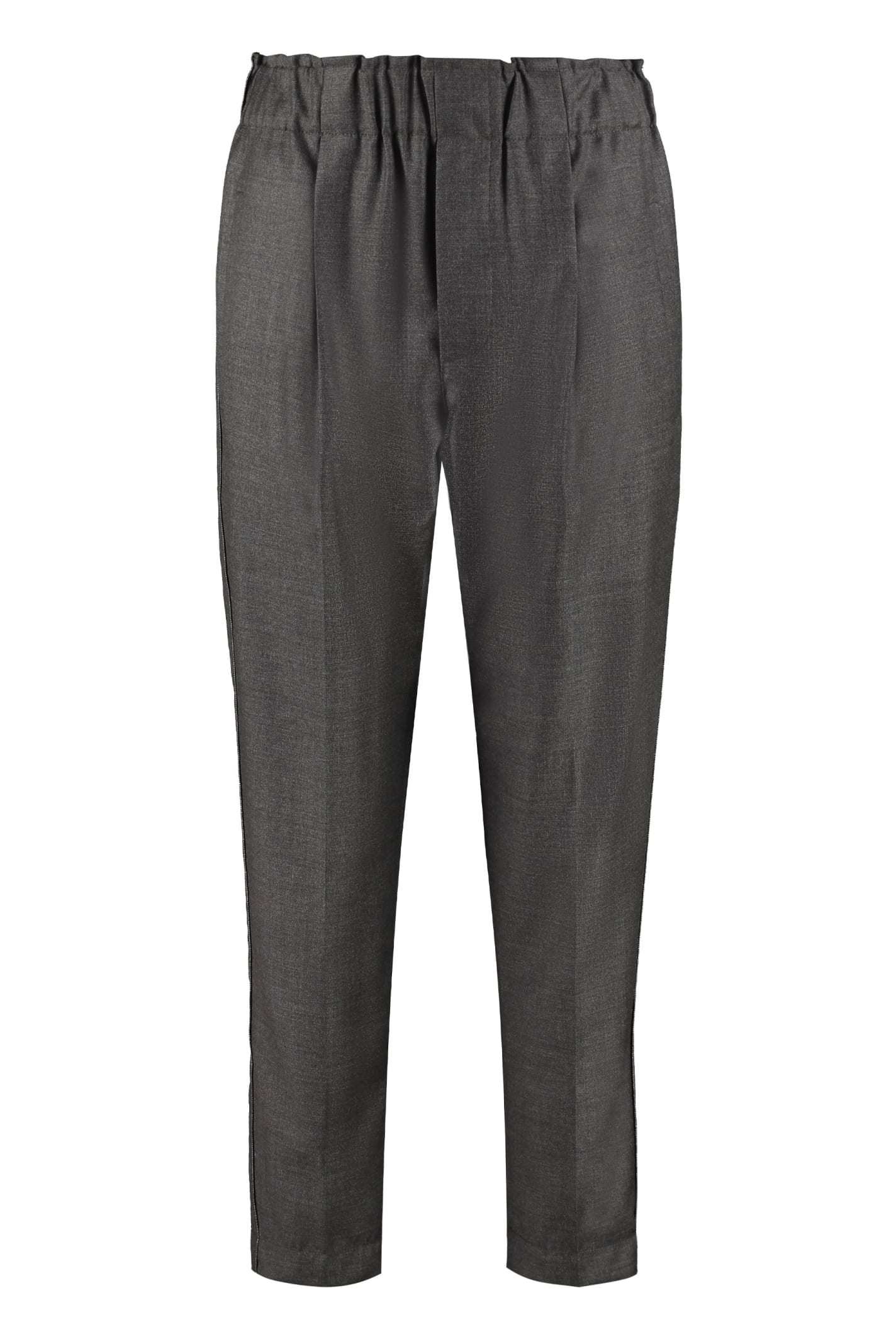 Brunello Cucinelli High-waist Tapered-fit Trousers
