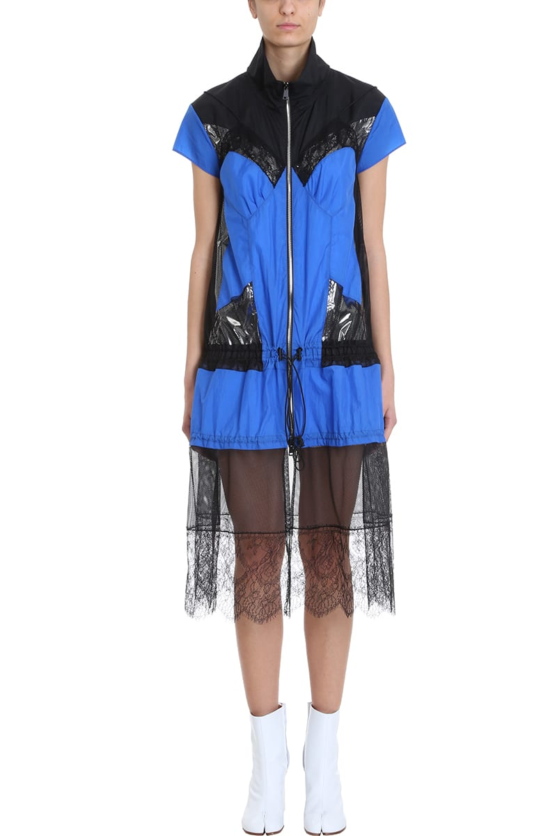 Maison Margiela Blue Black Viscose Tulle Dress