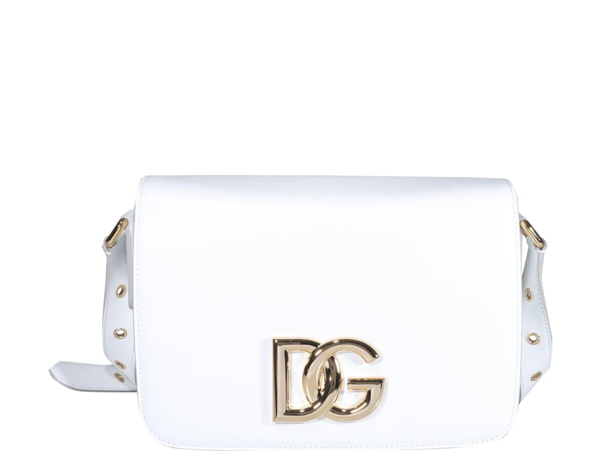 Dolce & Gabbana Dg Logo Crossbody Bag In White