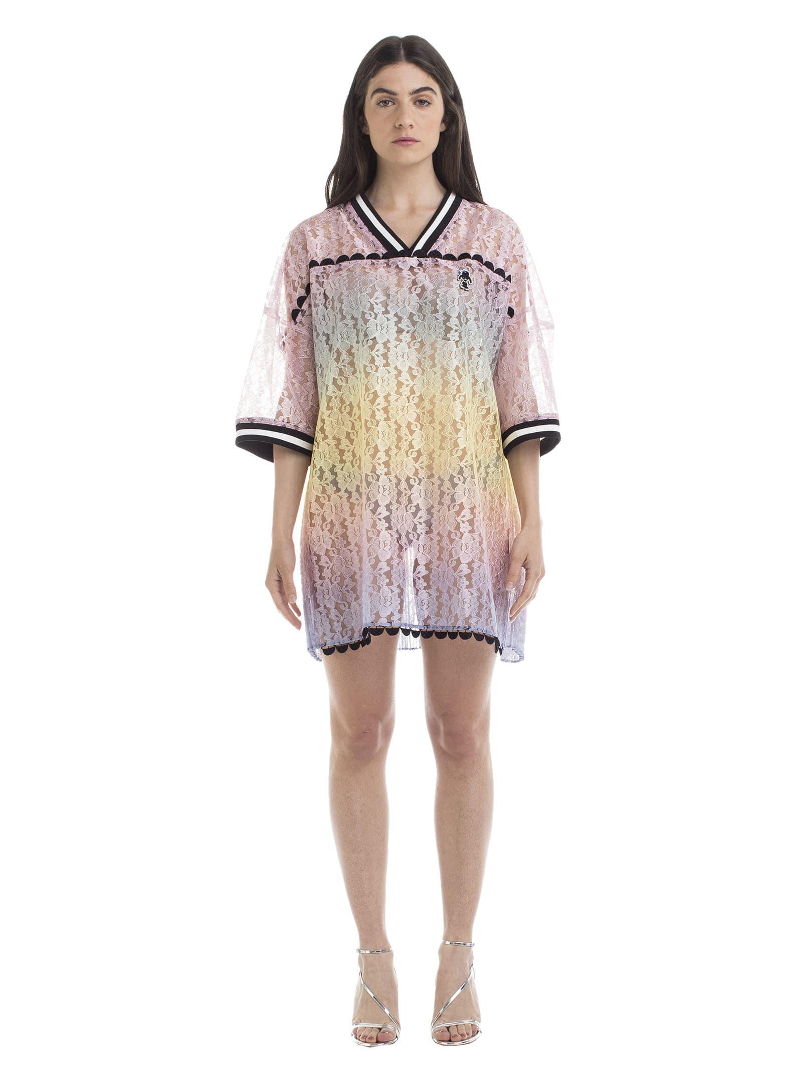 Marco de Vincenzo Marco De Vincenzo Gradient Effect Lace Dress