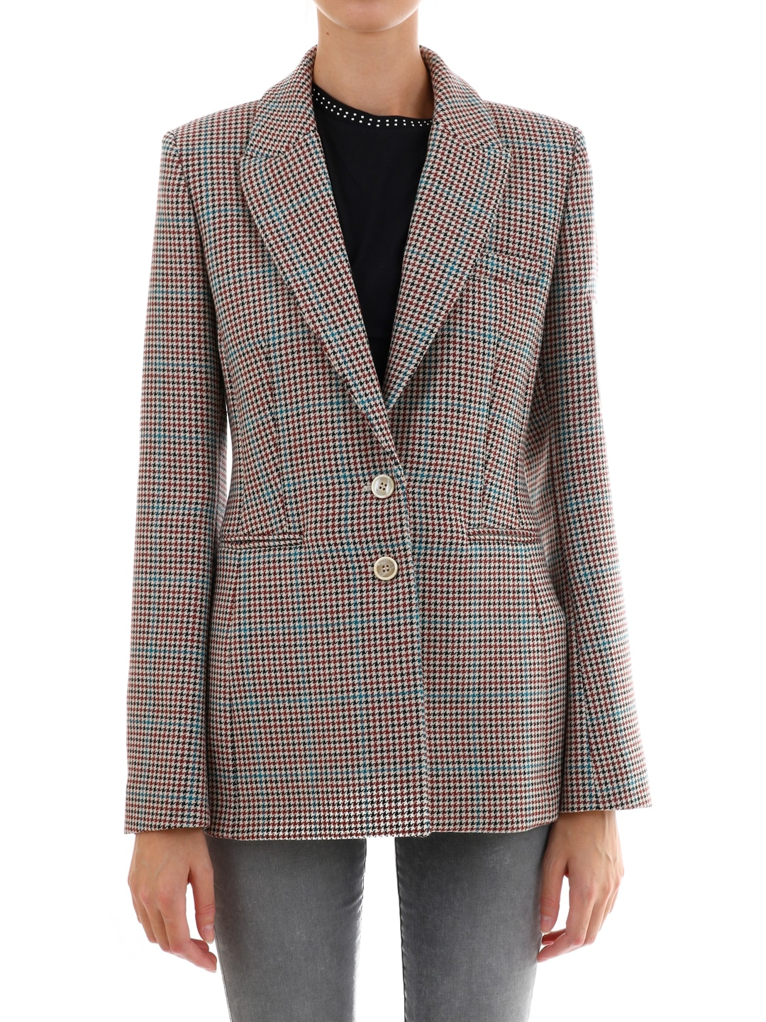Off-White Checked Blazer