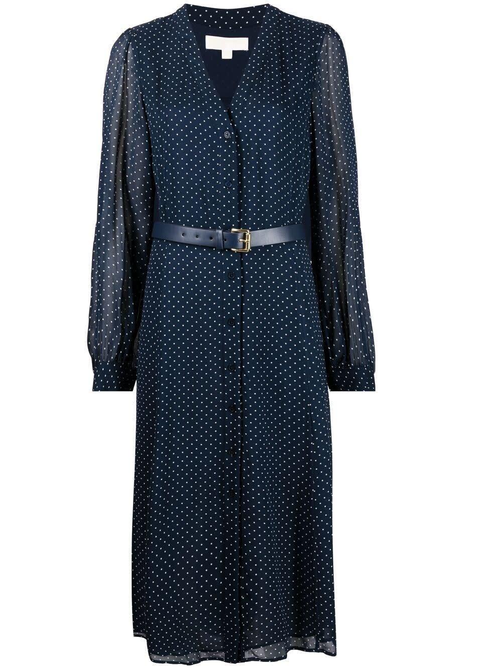 Michael Michael Kors Clothing BLUE POLKA DOT VISCOSE DRESS