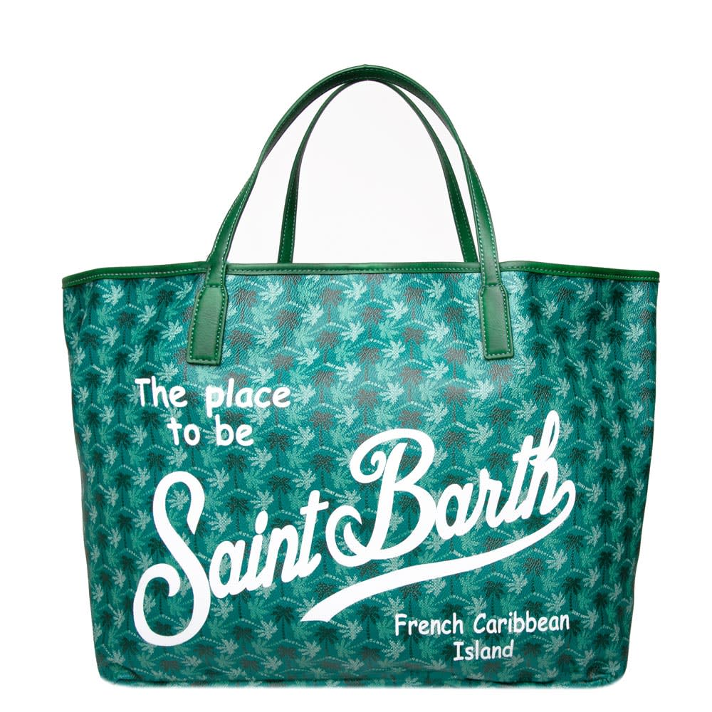 Saint Barth Monogram Green Bag