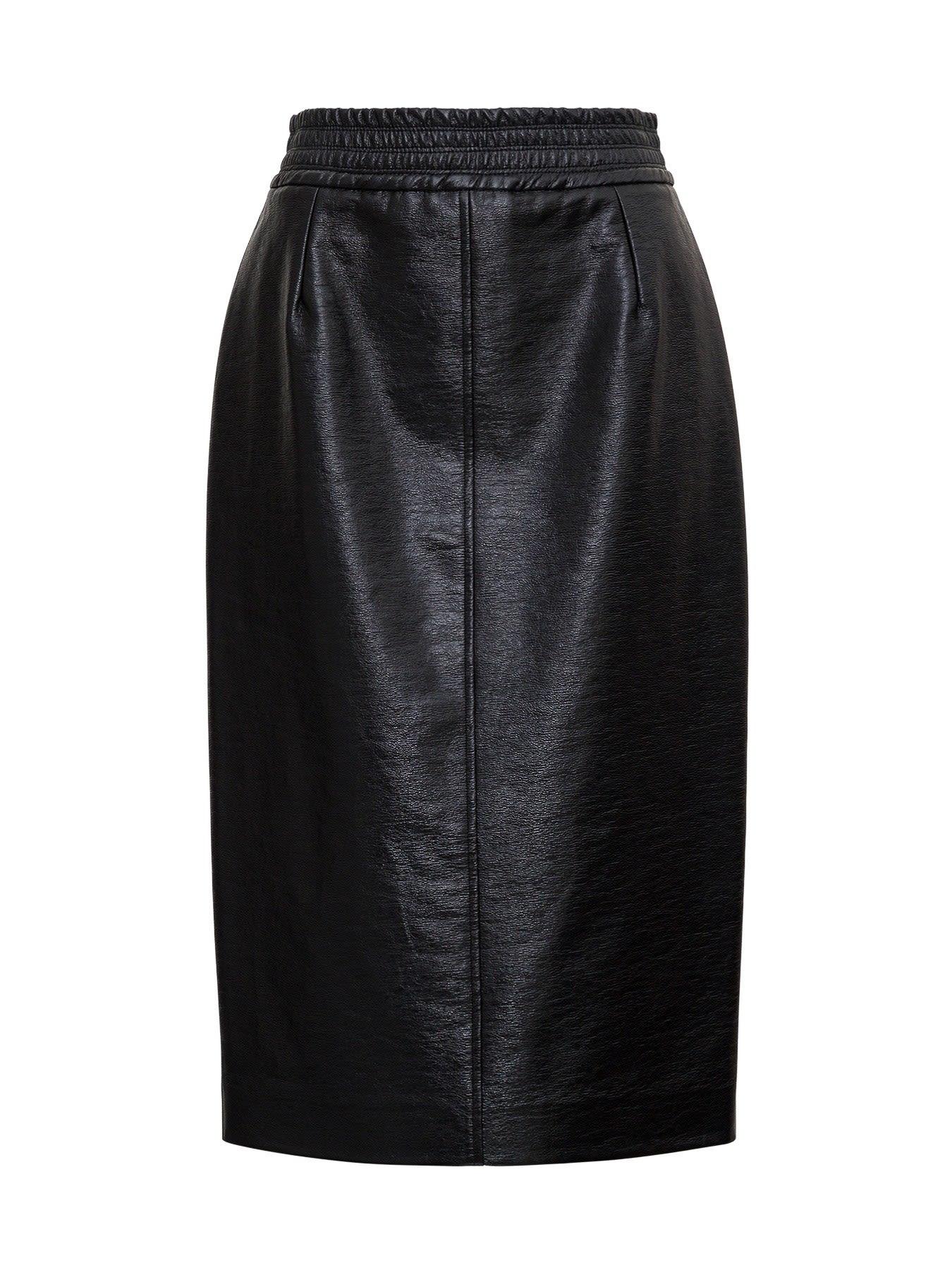 Leatheret Midi Skirt