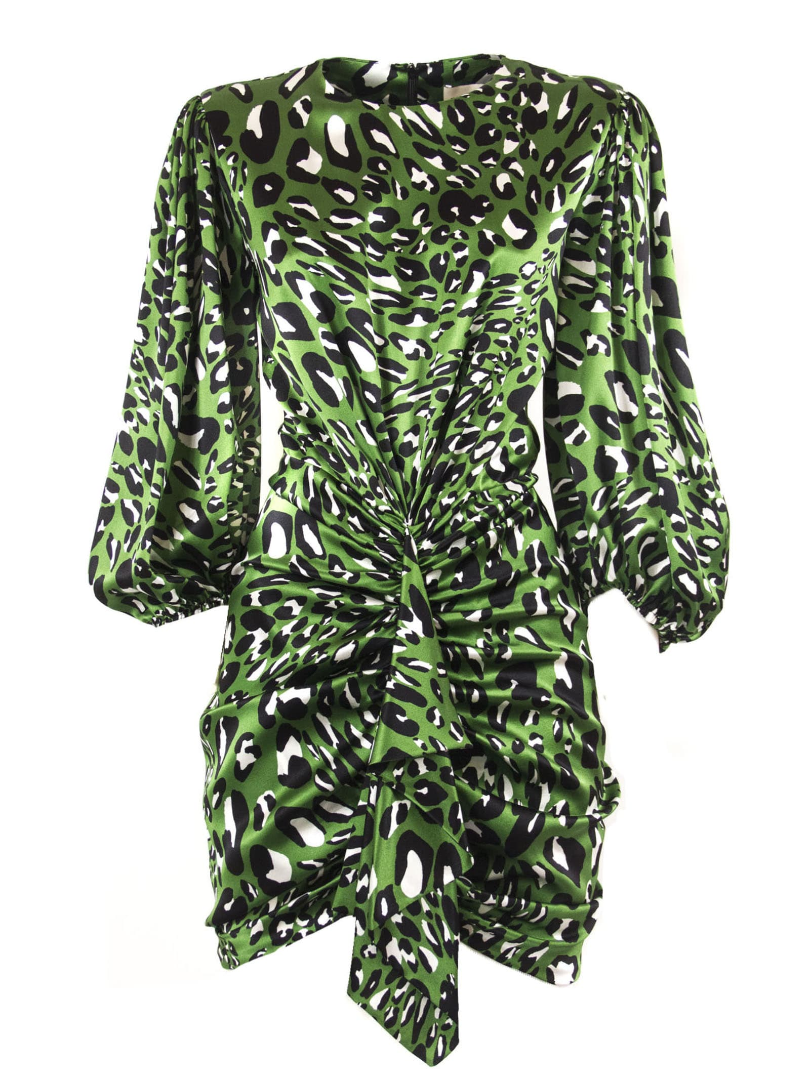 Alexandre Vauthier Green Silk Blend Dress