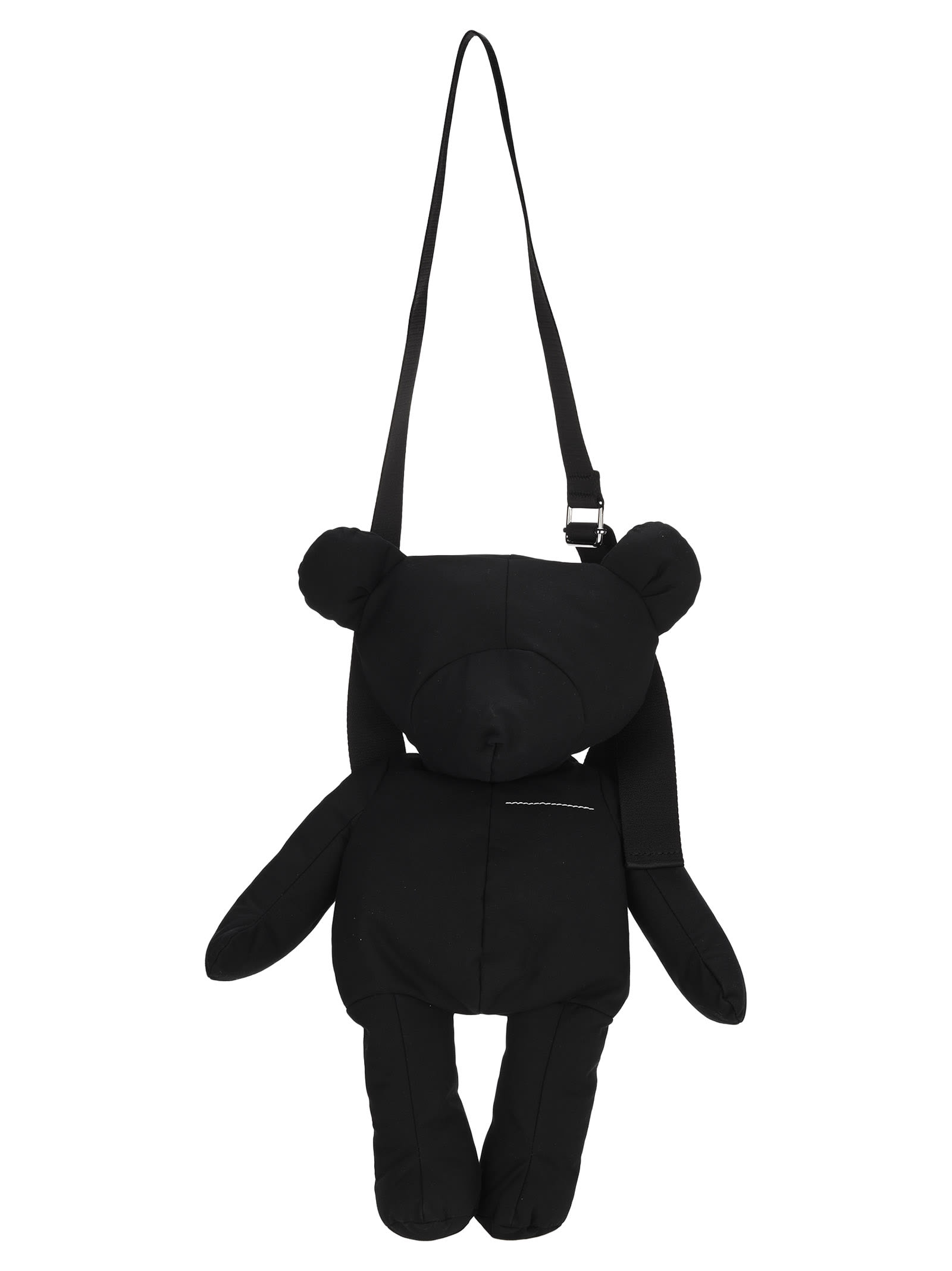 Mm6 Maison Margiela Mm6 Teddy Bear Crossbody Bag In Black